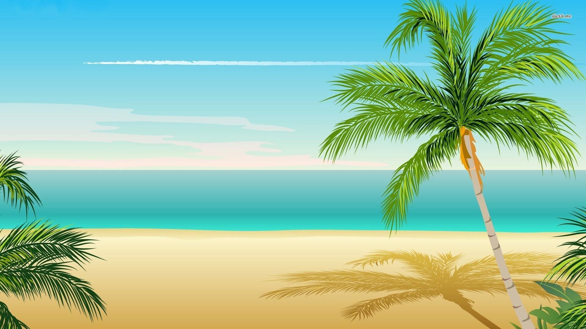 Palm tree vector wallpaper.