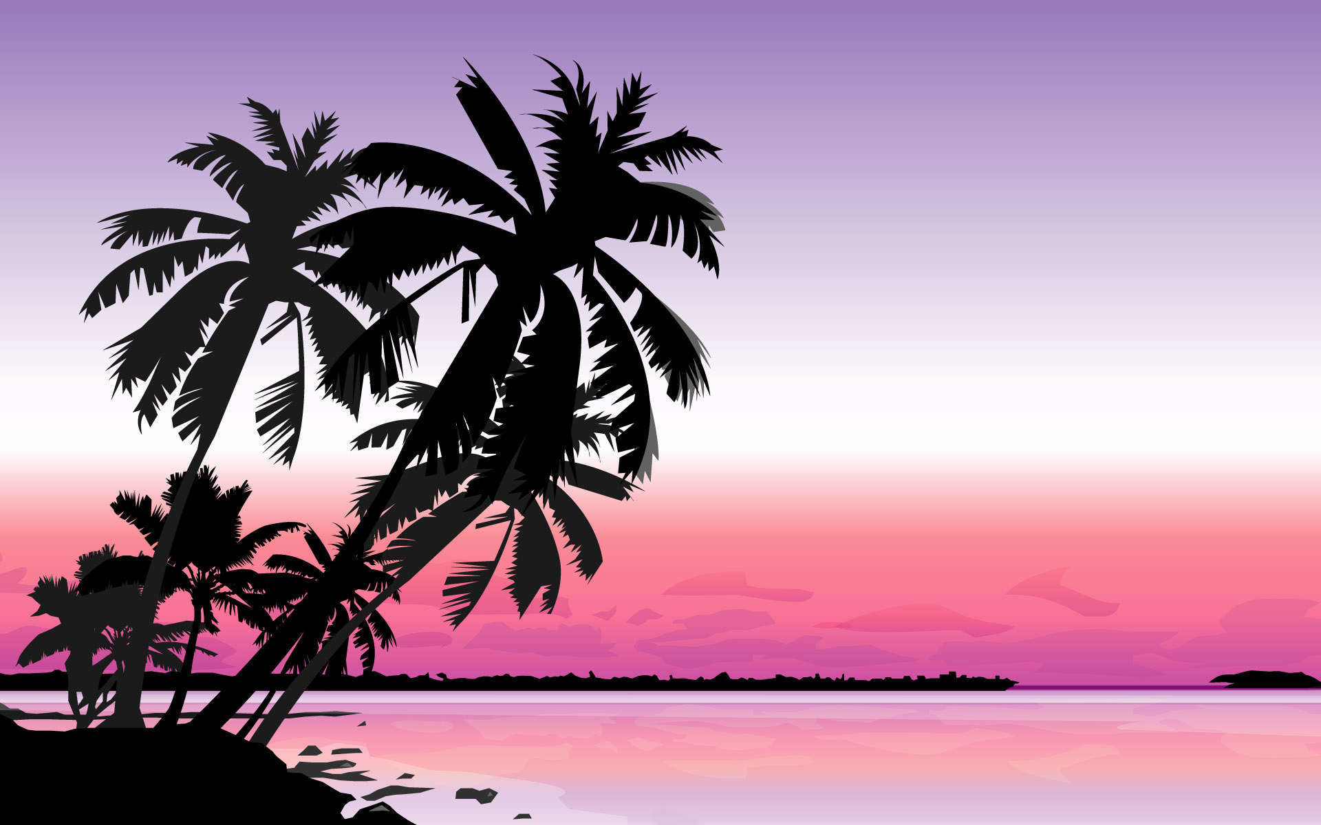 Gallery for – palm tree design wallpaper