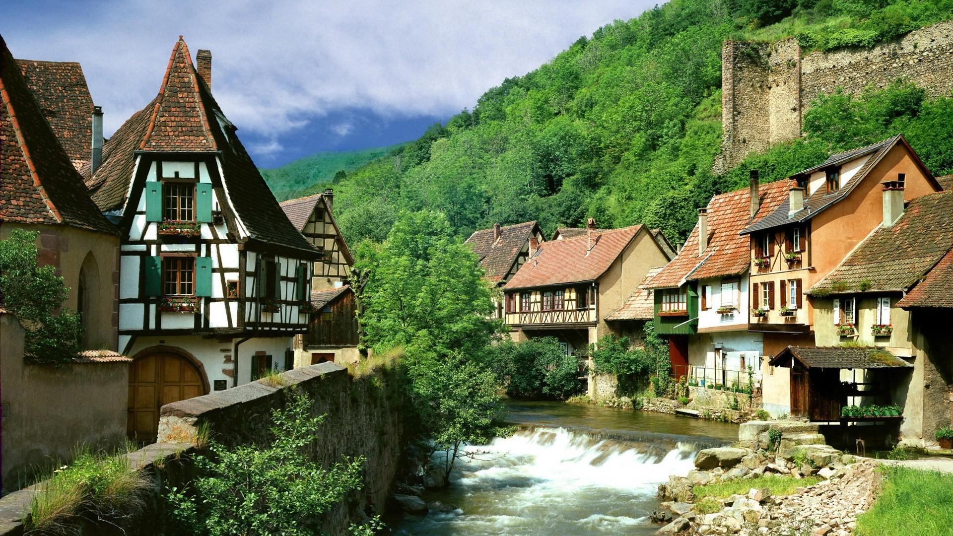France Landscape | France landscapes nature villages wallpaper
