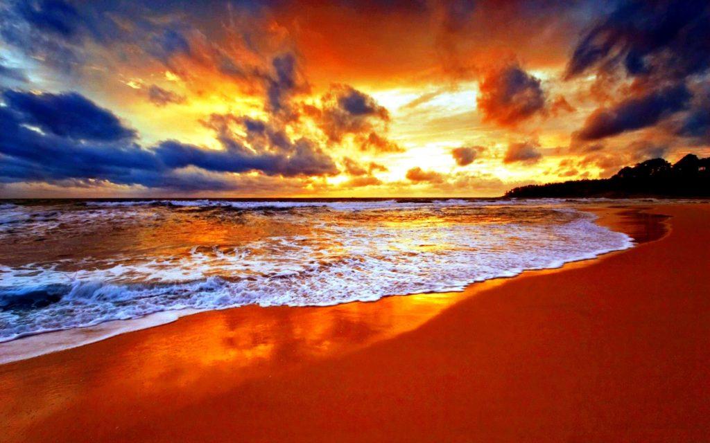 … pretty sunset beach widescreen wallpaper beach wallpaper better …