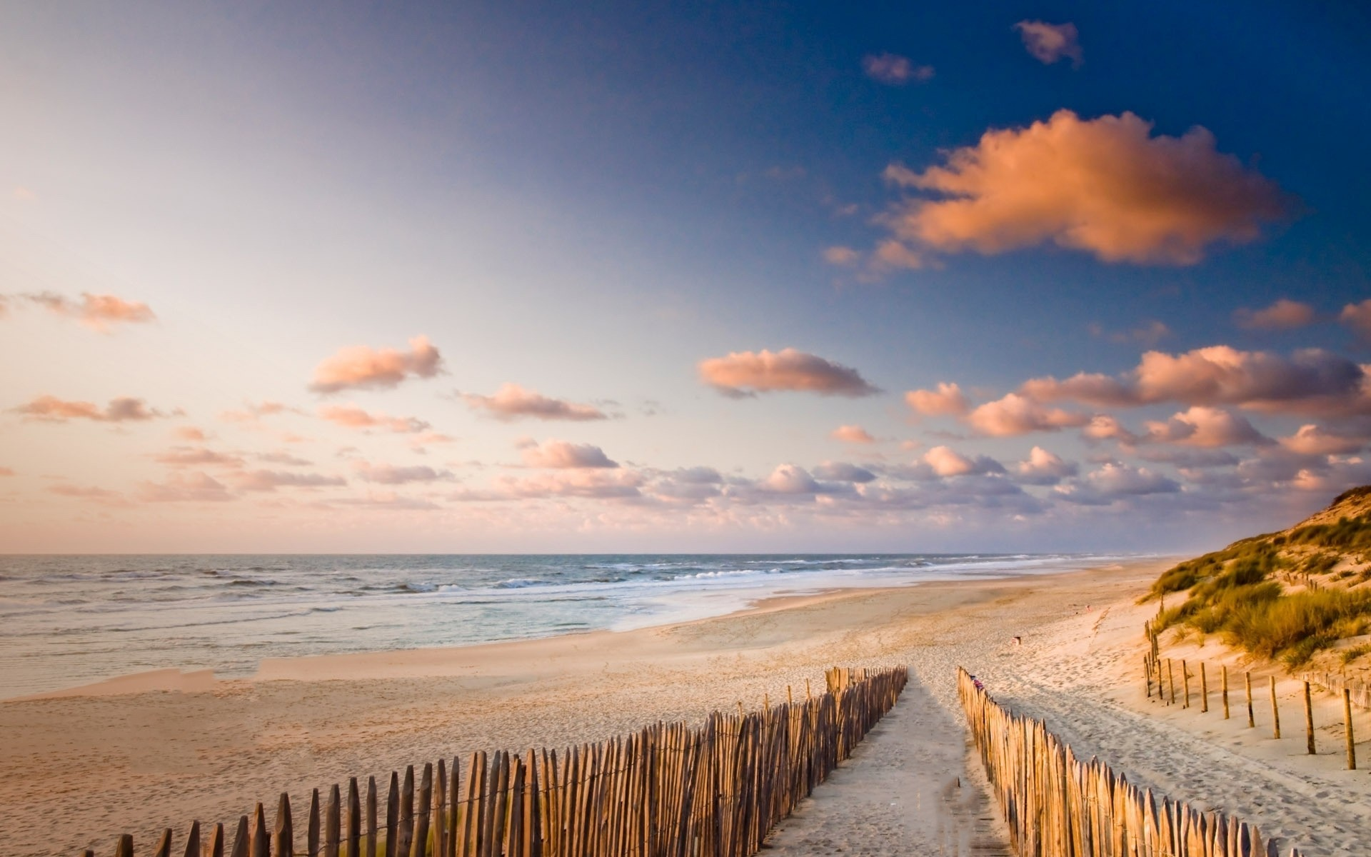 Pretty Beach Way Fence Ocean wallpapers Pretty Beach Way Fence 1920×1200
