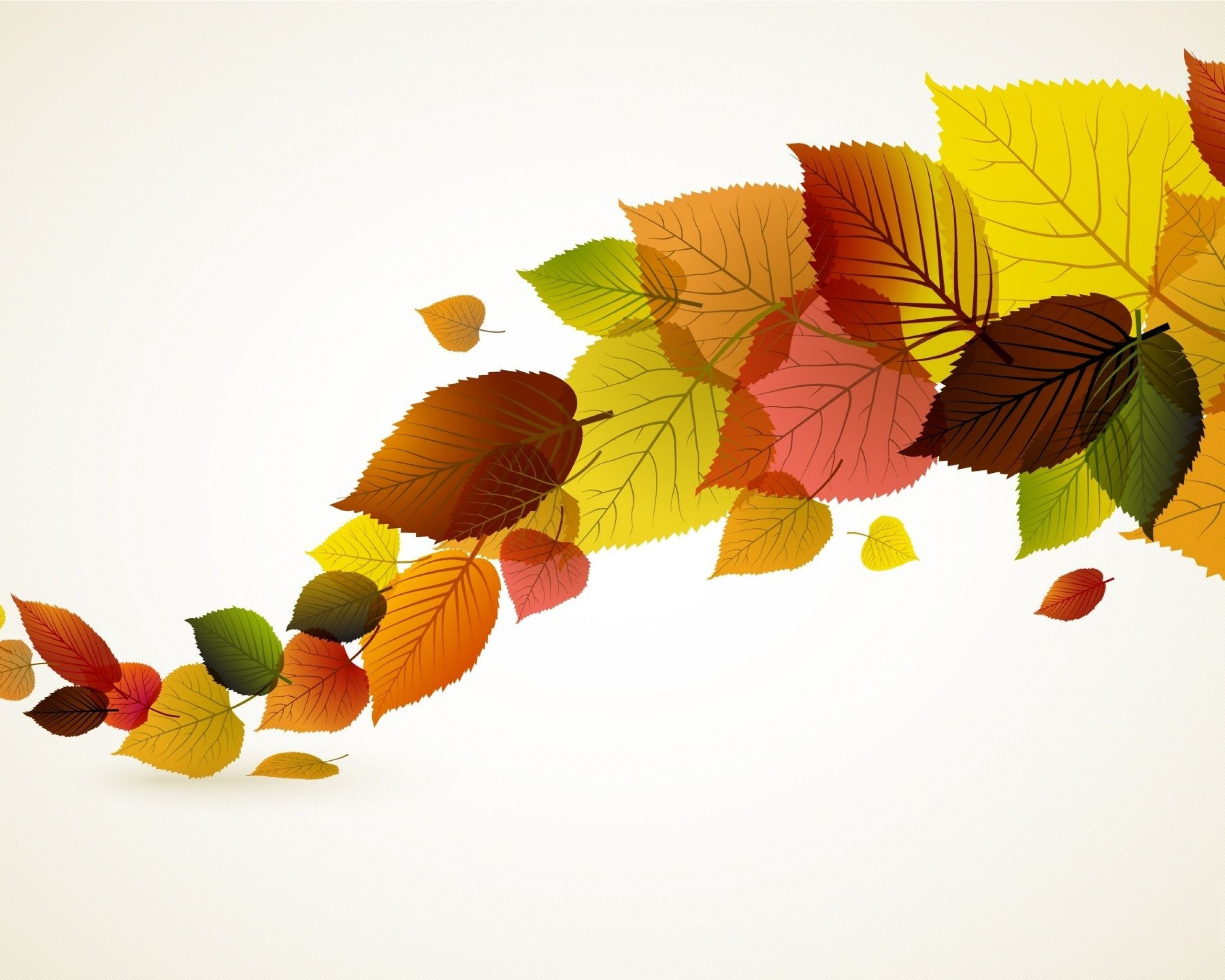 Autumn Leaves Illustration Desktop Wallpaper Uploaded by 10Mantra