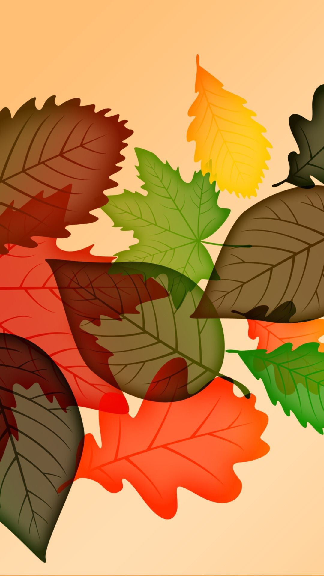 Autumn Leaves – Tap to see more of the top colorful Autumn wallpapers! | @