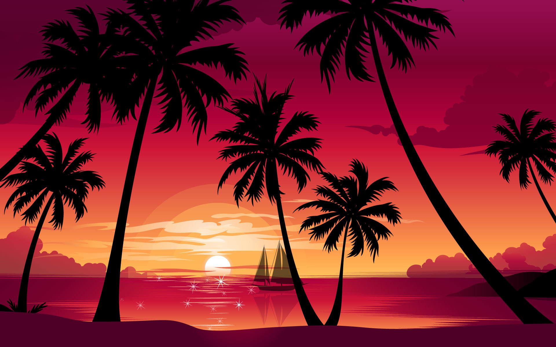 sunset hd wallpapers palm trees sunset wallpapers palm trees sunset .