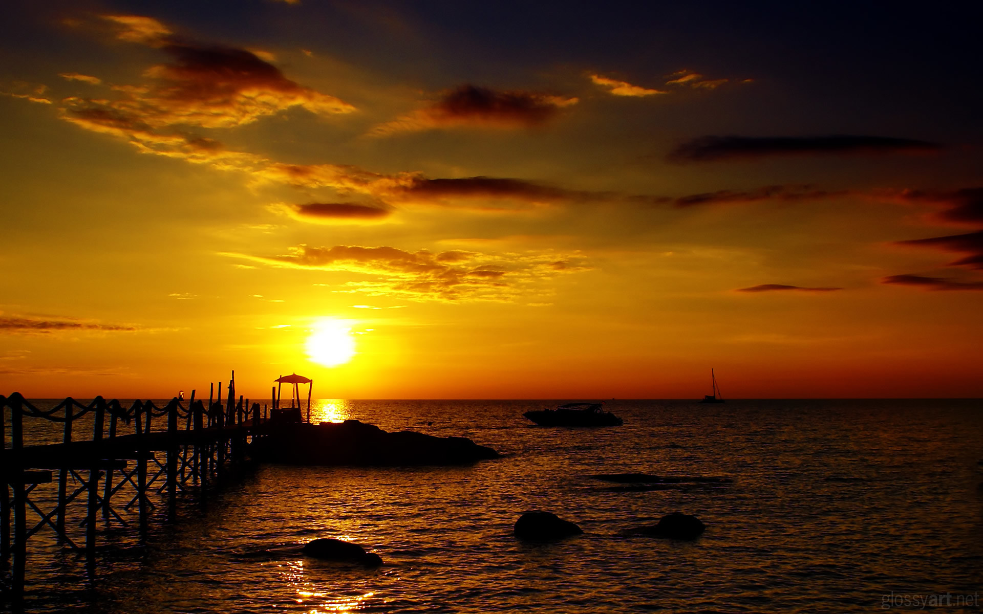 Golden Sunset HD Wallpaper   Theme Bin – Customization, HD Wallpapers .