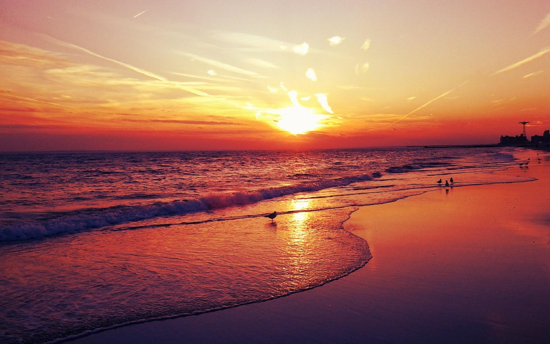 Landscapes   sunset landscapes beach seascapes fresh new hd wallpaper