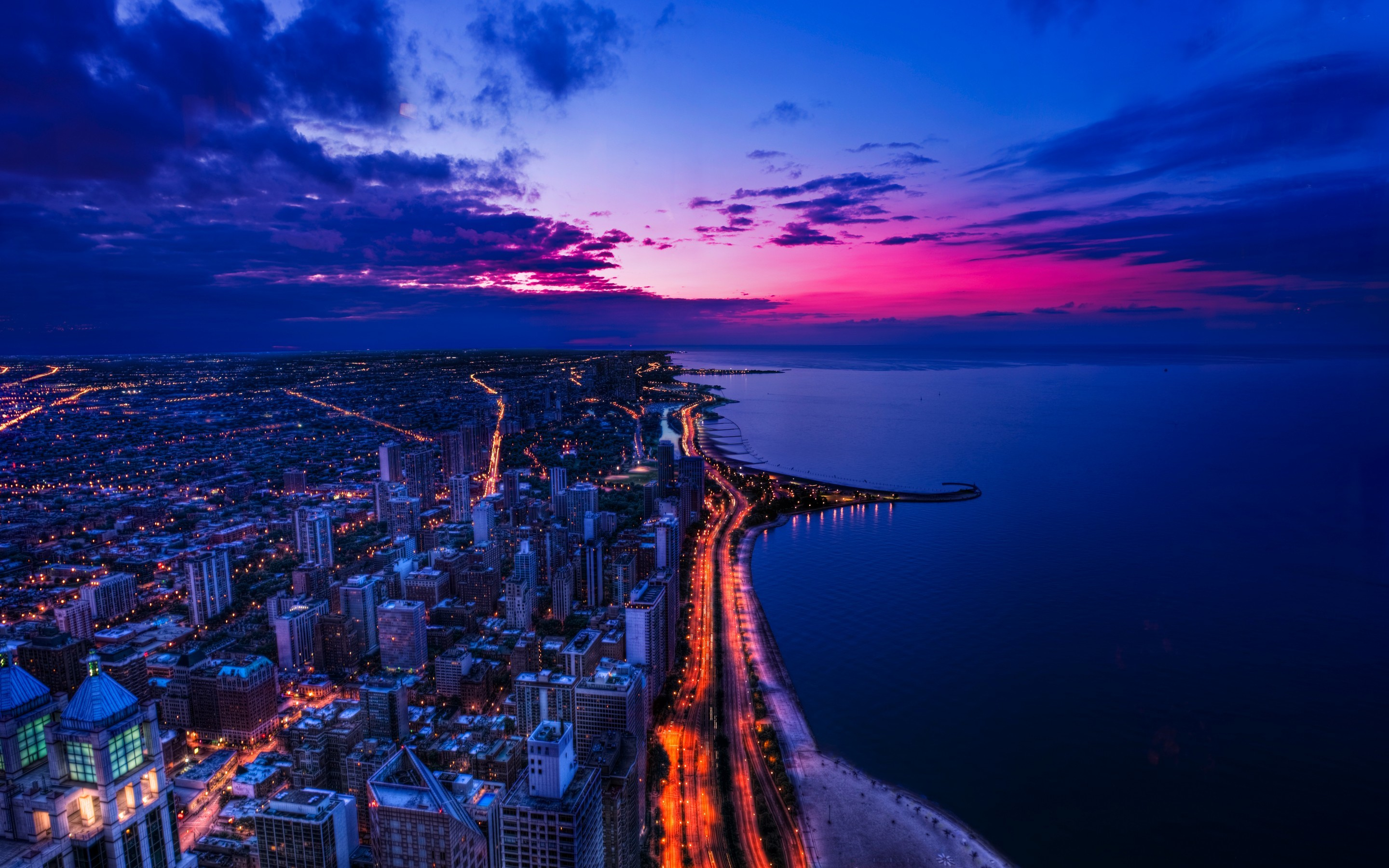 Chicago Sunset HD & Widescreen Travel & World Wallpaper from the above  resolutions.