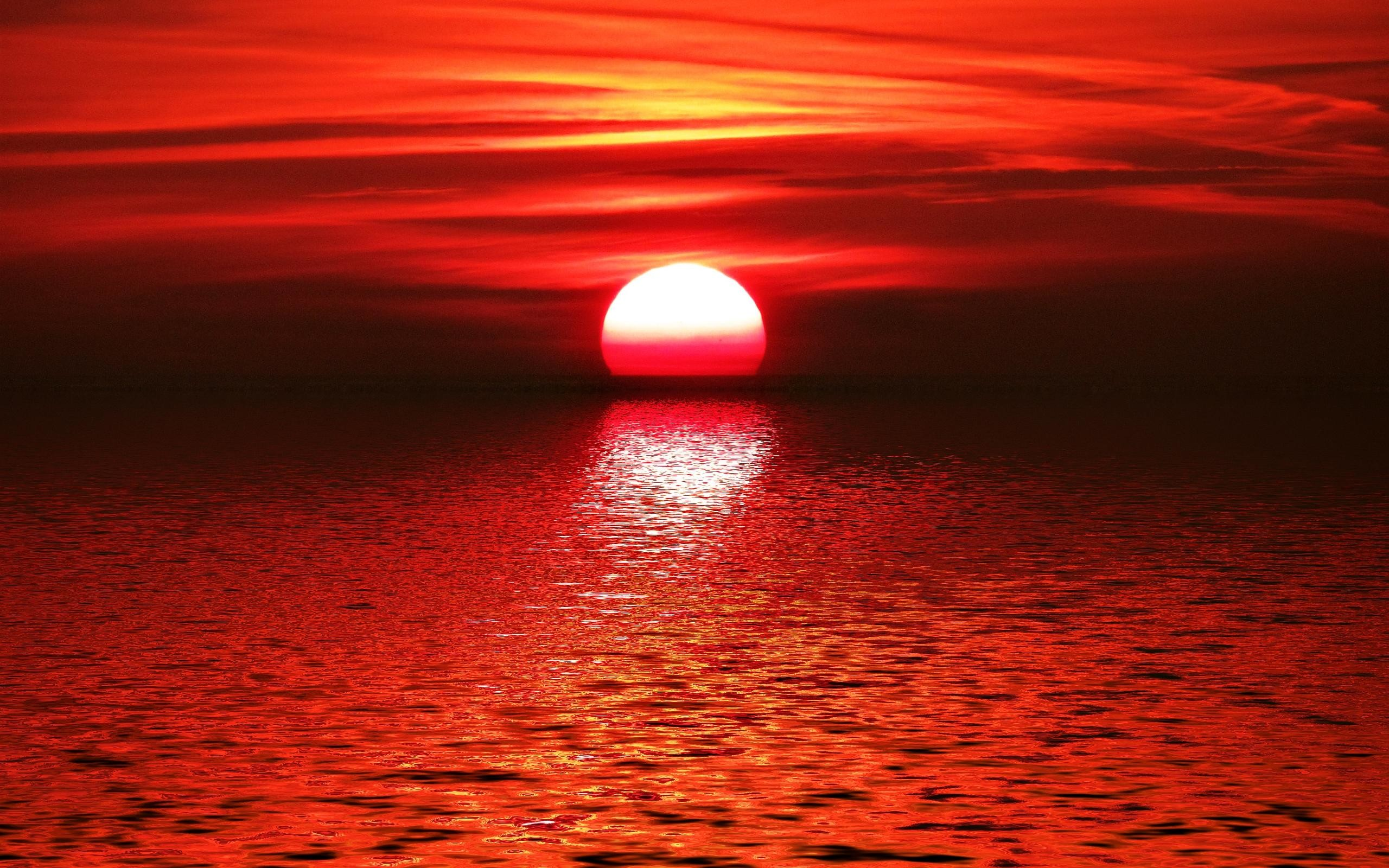 Red sunset hd