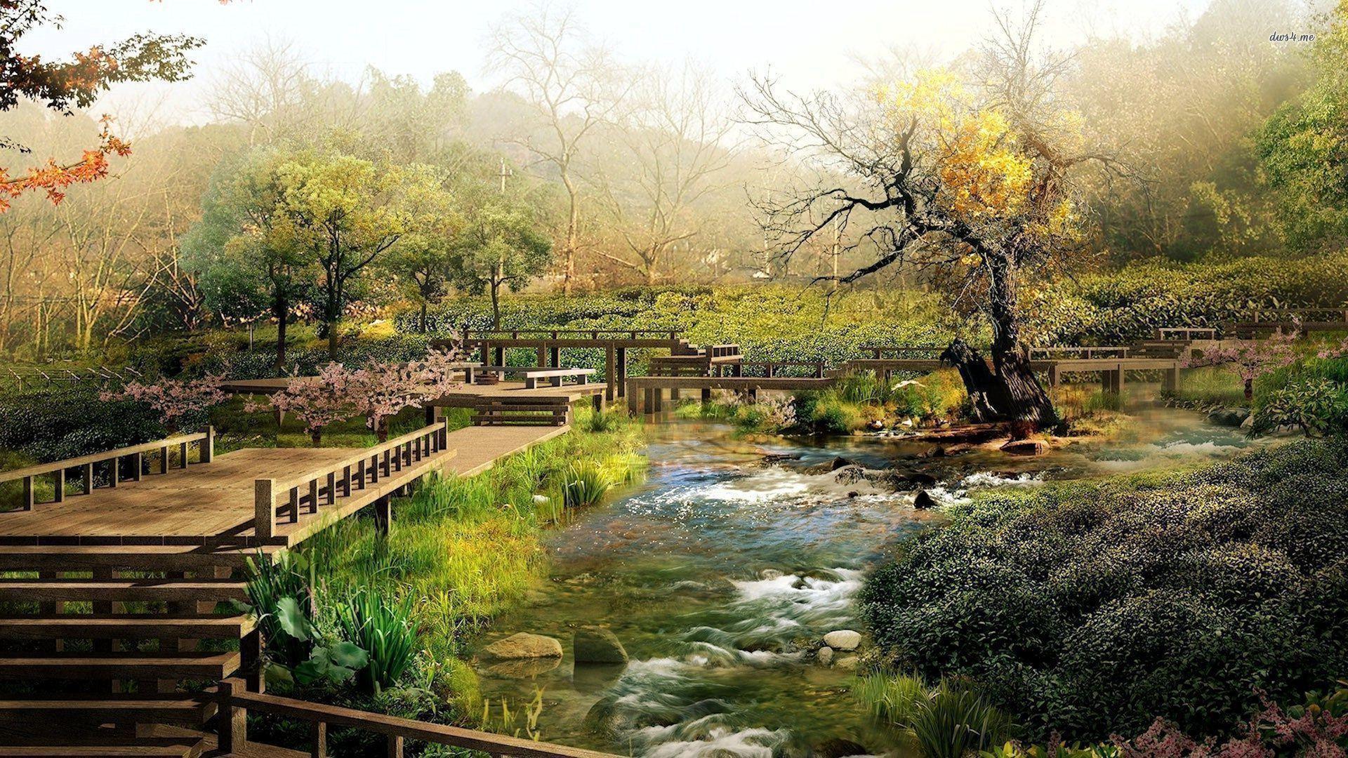 Japanese Garden wallpaper – Nature wallpapers – #