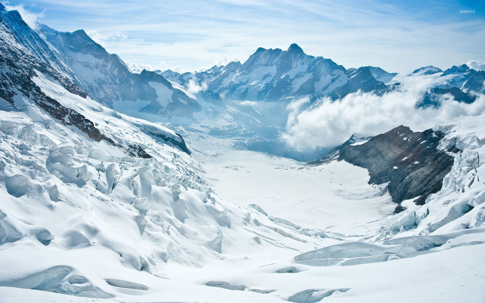 Snowy mountains [12] wallpaper
