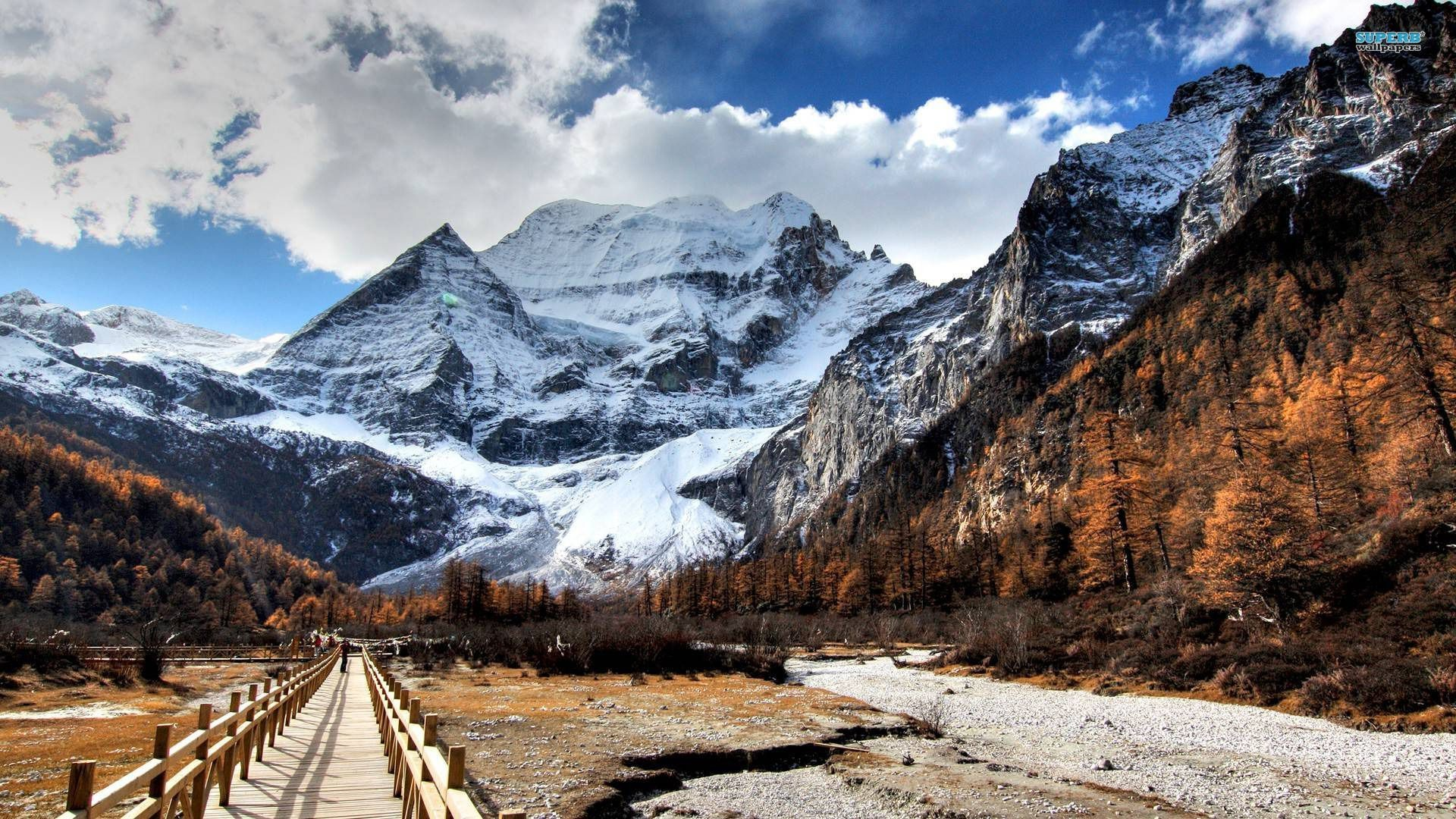 Snowy mountains wallpaper – Nature wallpapers – #15063
