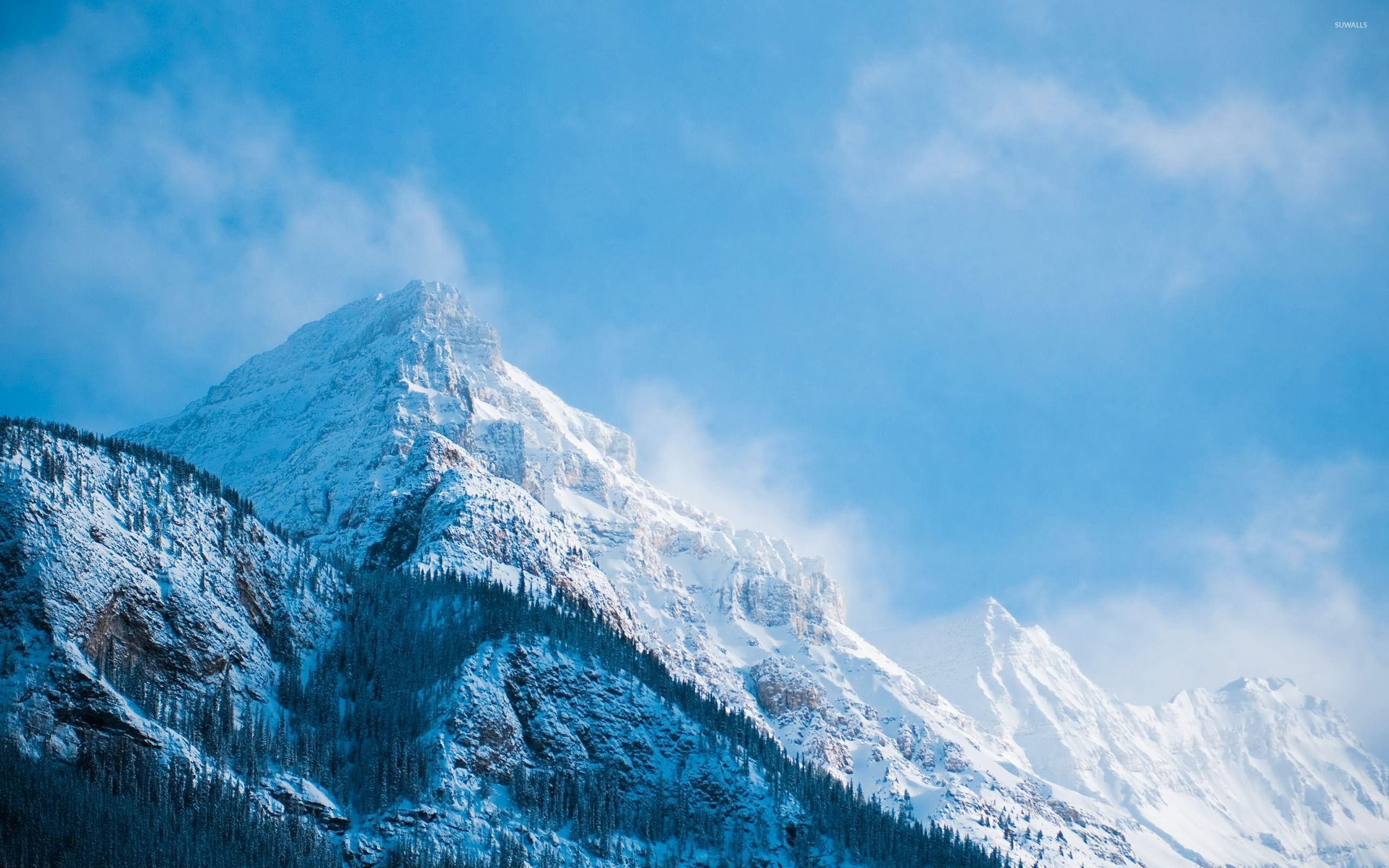 Snowy mountain peaks [3] wallpaper