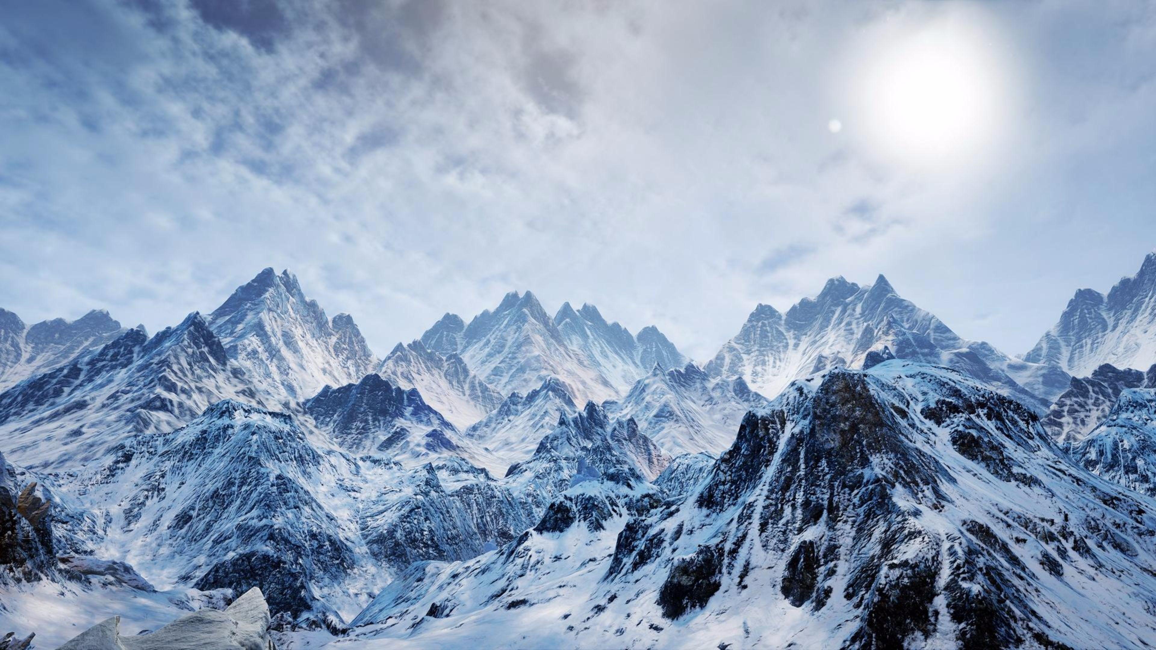 snowy mountain wallpaper 4k photos