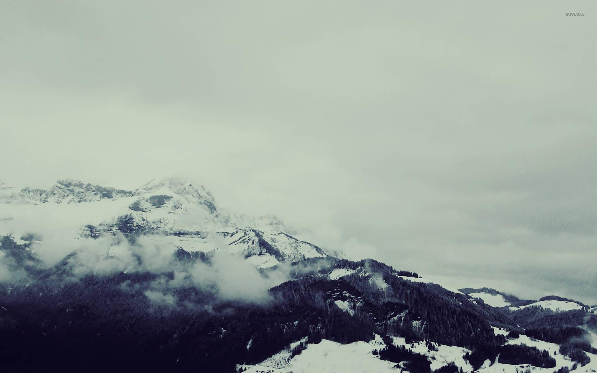 Snowy mountain top [4] wallpaper jpg