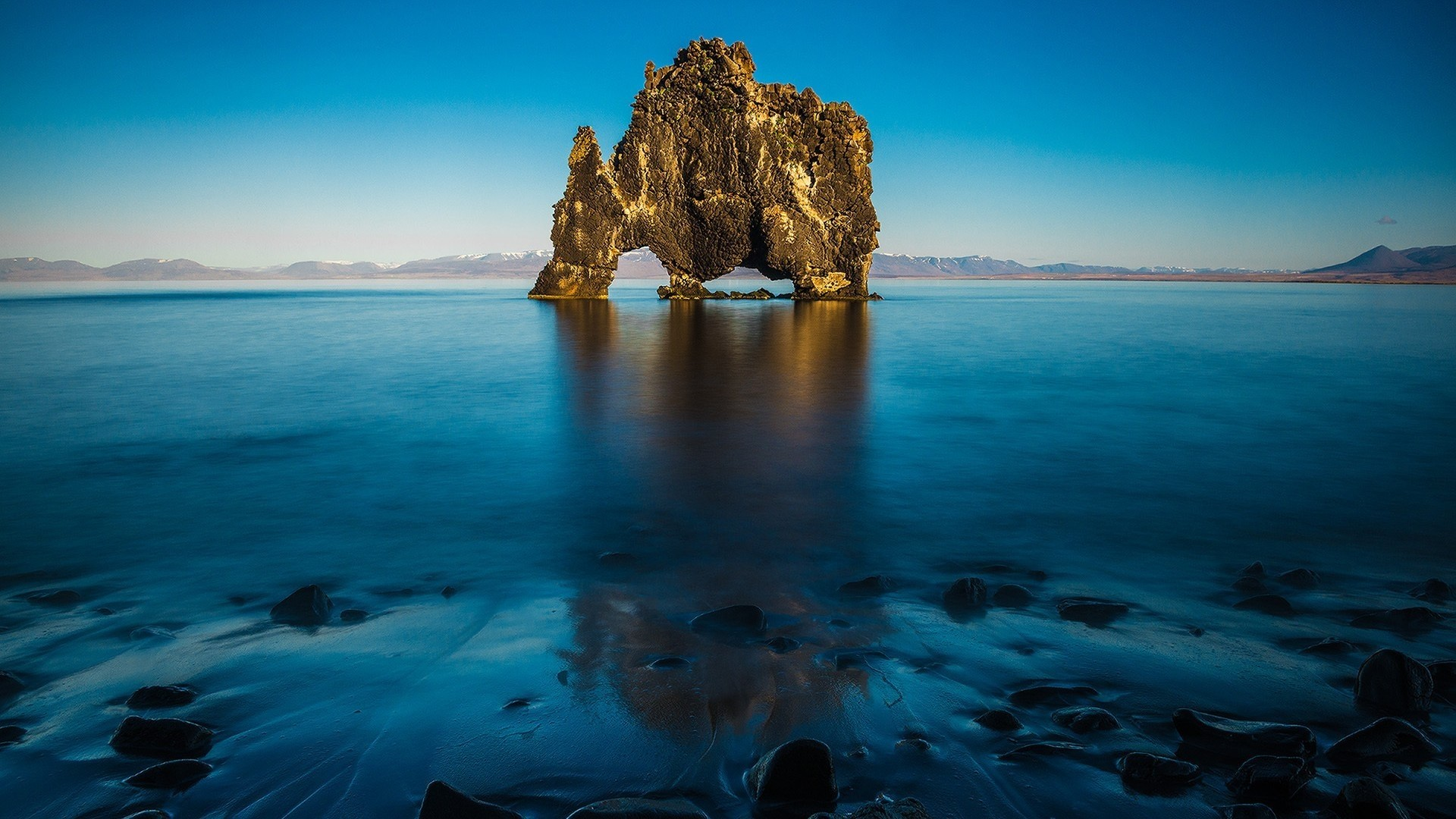 Hvitserkur North Iceland. How to set wallpaper on your desktop?  Click the download link from above and set the wallpaper on the desktop  from your …