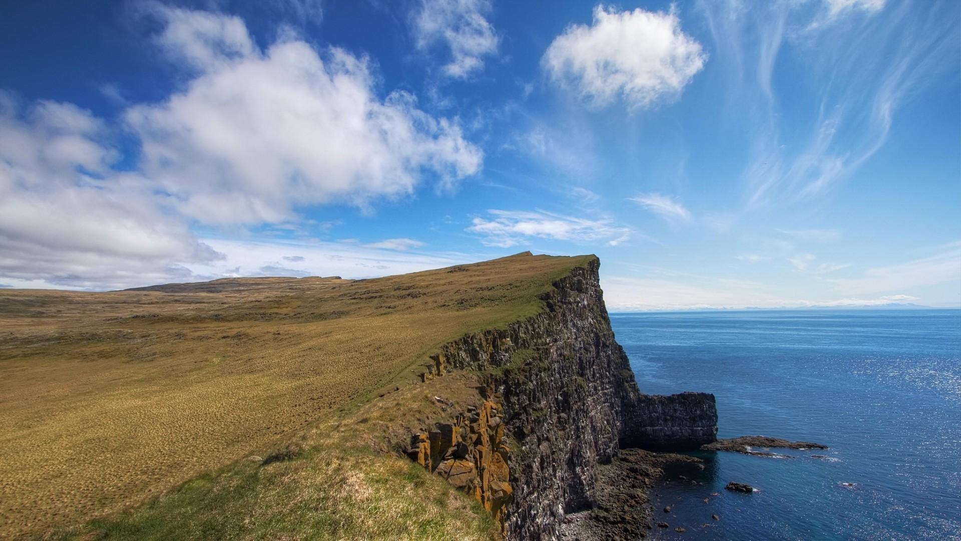 Wallpaper iceland, sea, coast, cliff