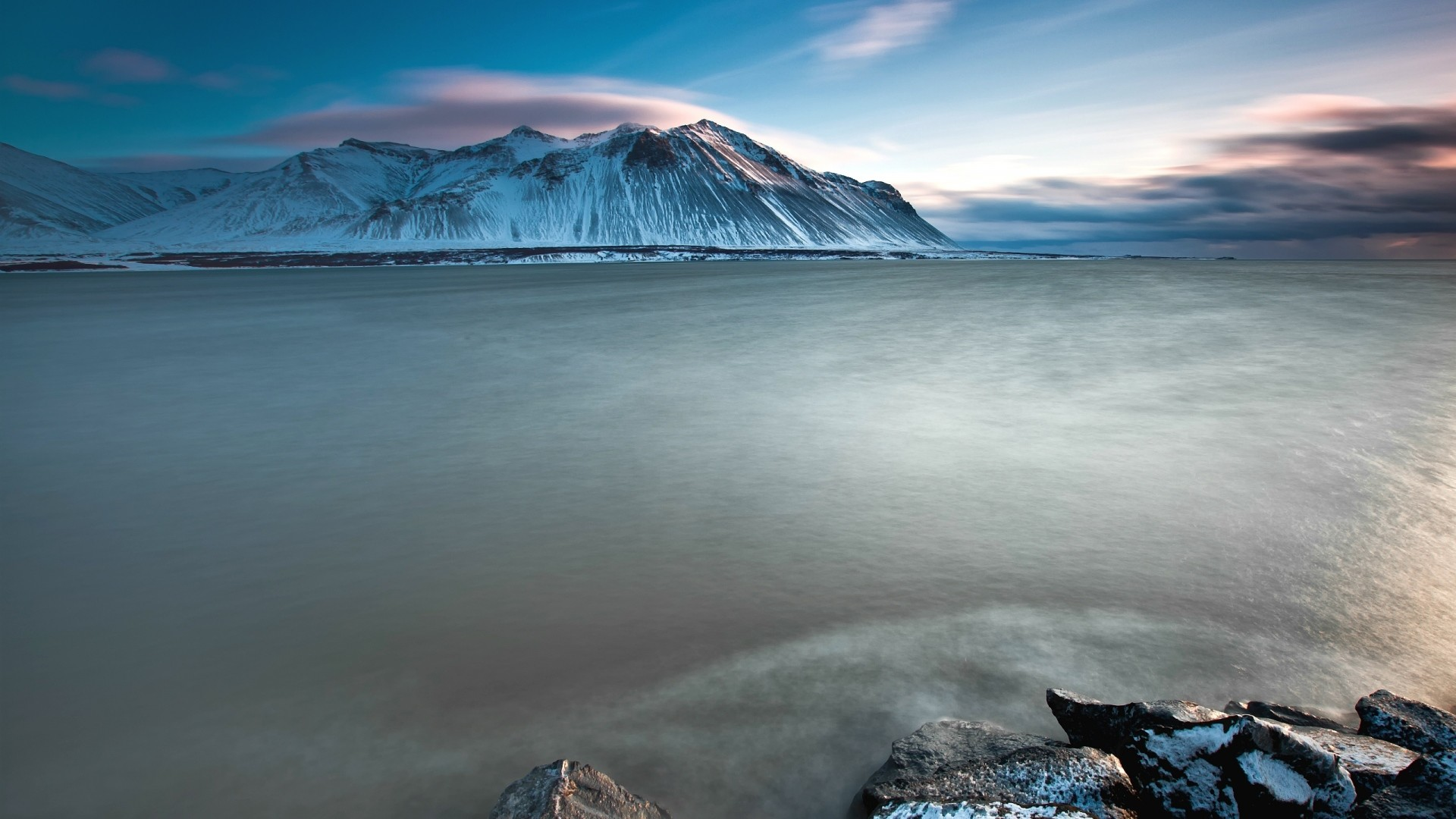 Wallpaper iceland, mountains, cold, stones