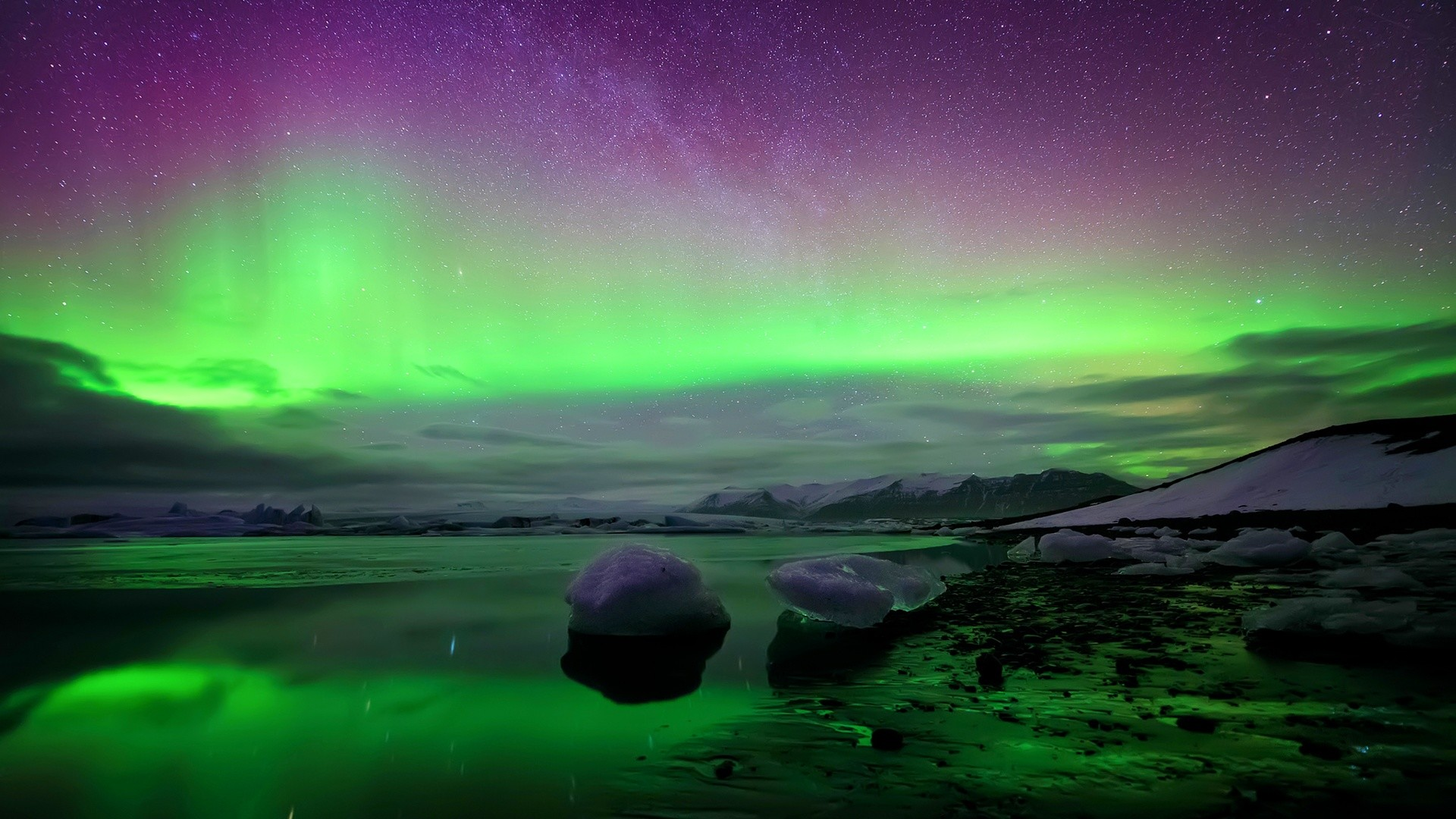 Description: The Wallpaper above is Iceland northern lights Wallpaper in  Resolution 1920×1080. Choose your