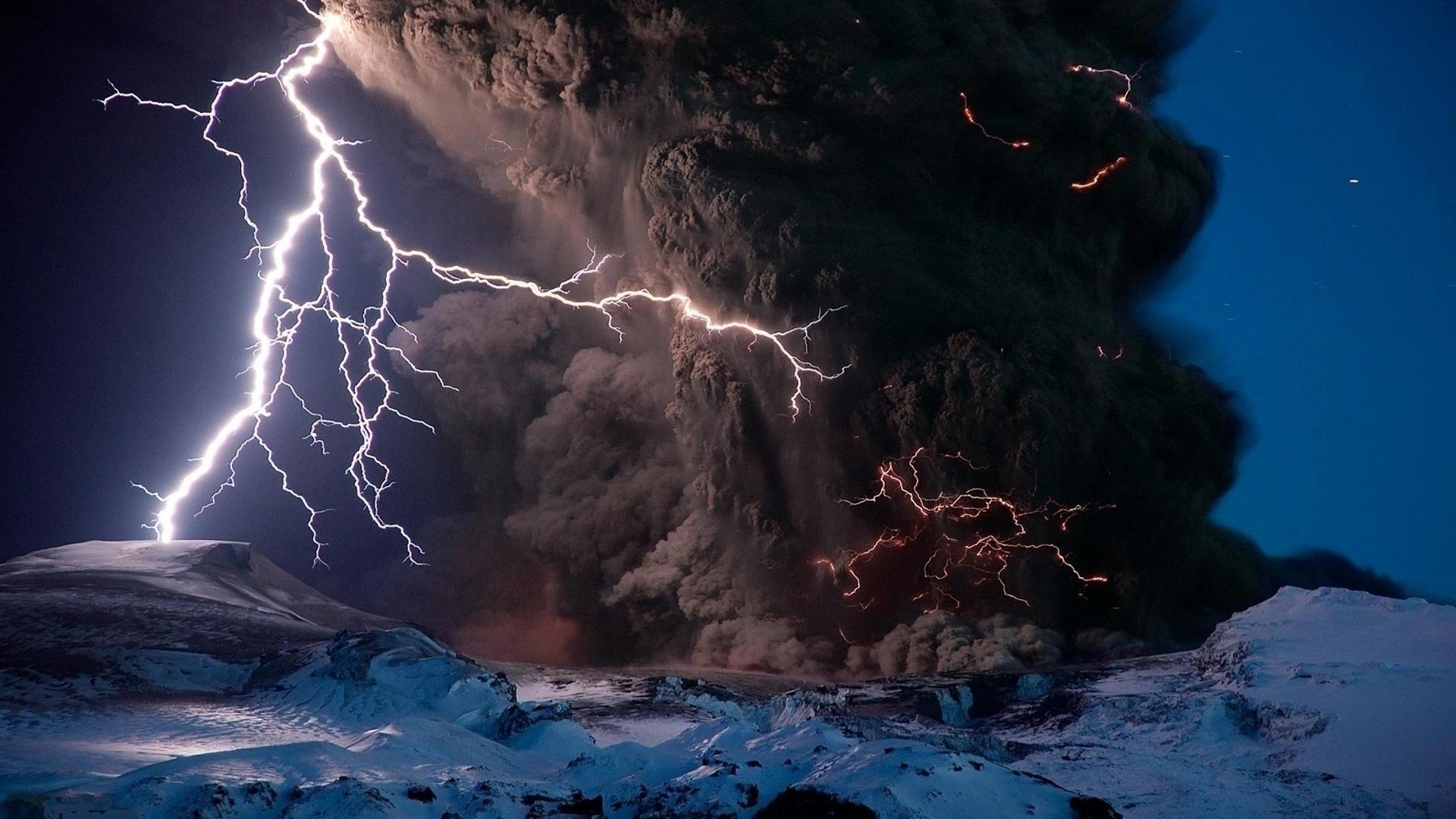 Volcano In Iceland 2011
