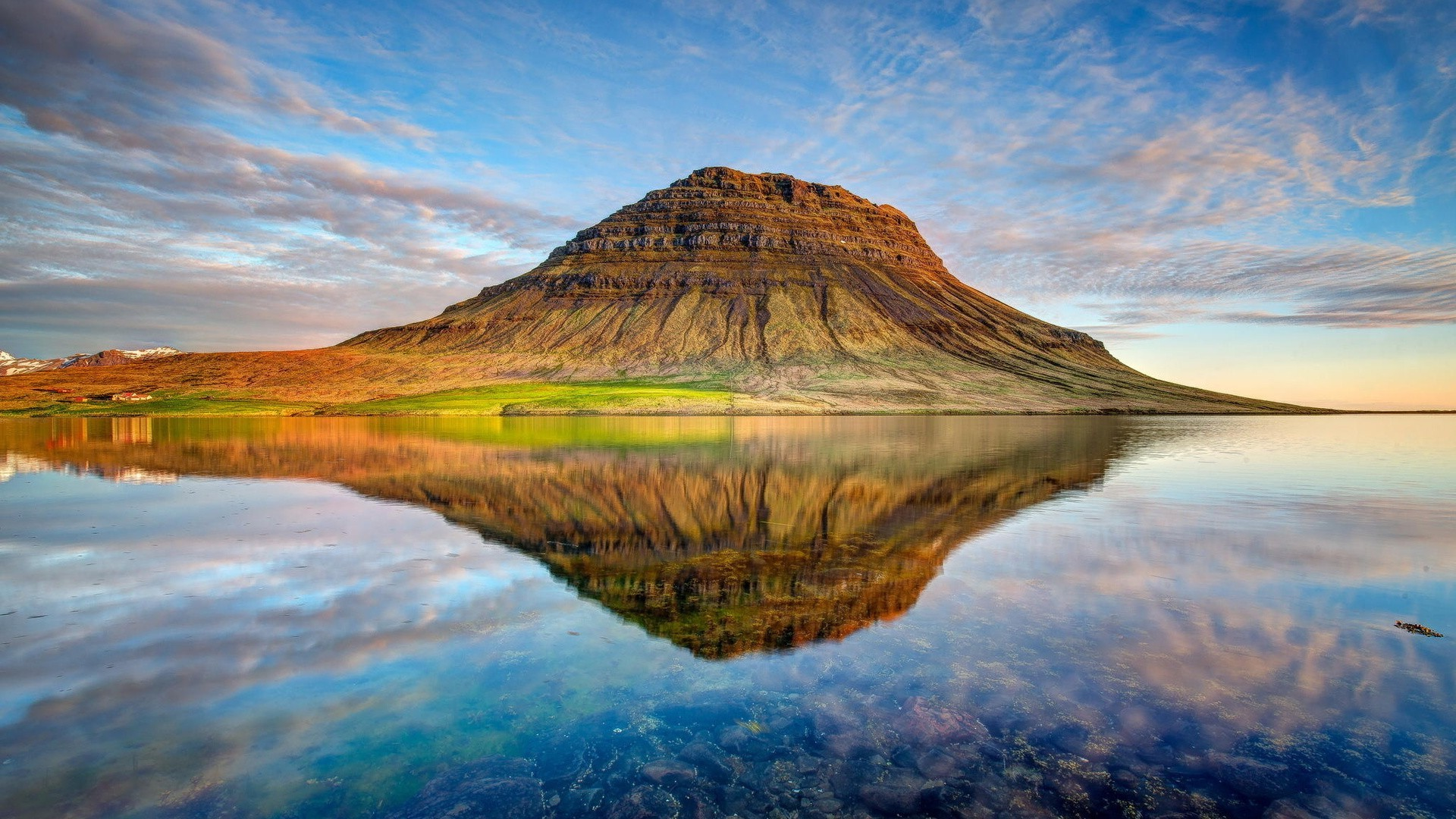 landscape, Mountain, Kirkjufell, Iceland, Lake Wallpapers HD / Desktop and  Mobile Backgrounds