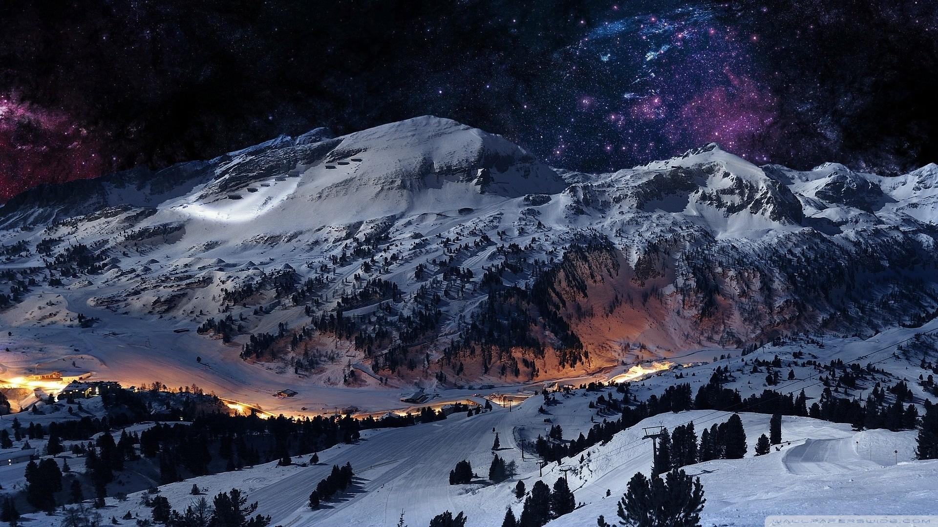Night sky + snow [Wallpaper] | Reviews, news, tips, and tricks