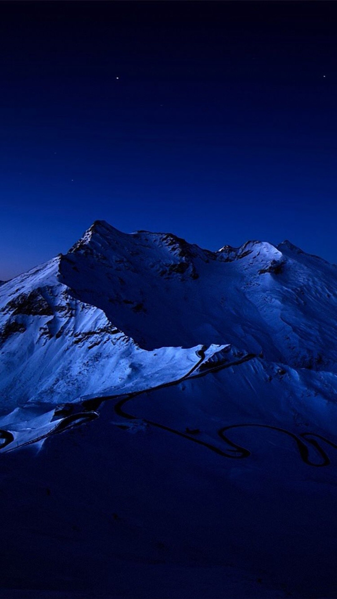 blue.quenalbertini: Night Sky Over Snow Mountain Peak iPhone 6 Plus  Wallpaper