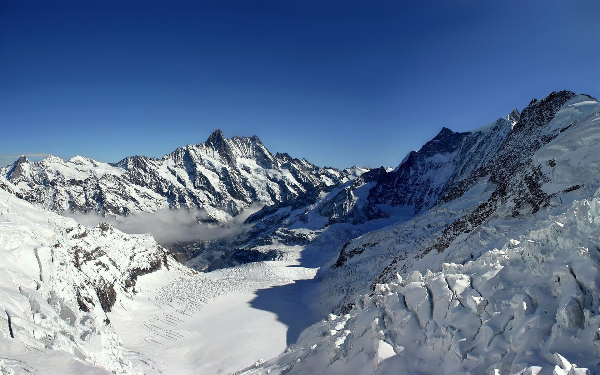 Beautiful Snowy Winter Mountain Wallpaper desktop.