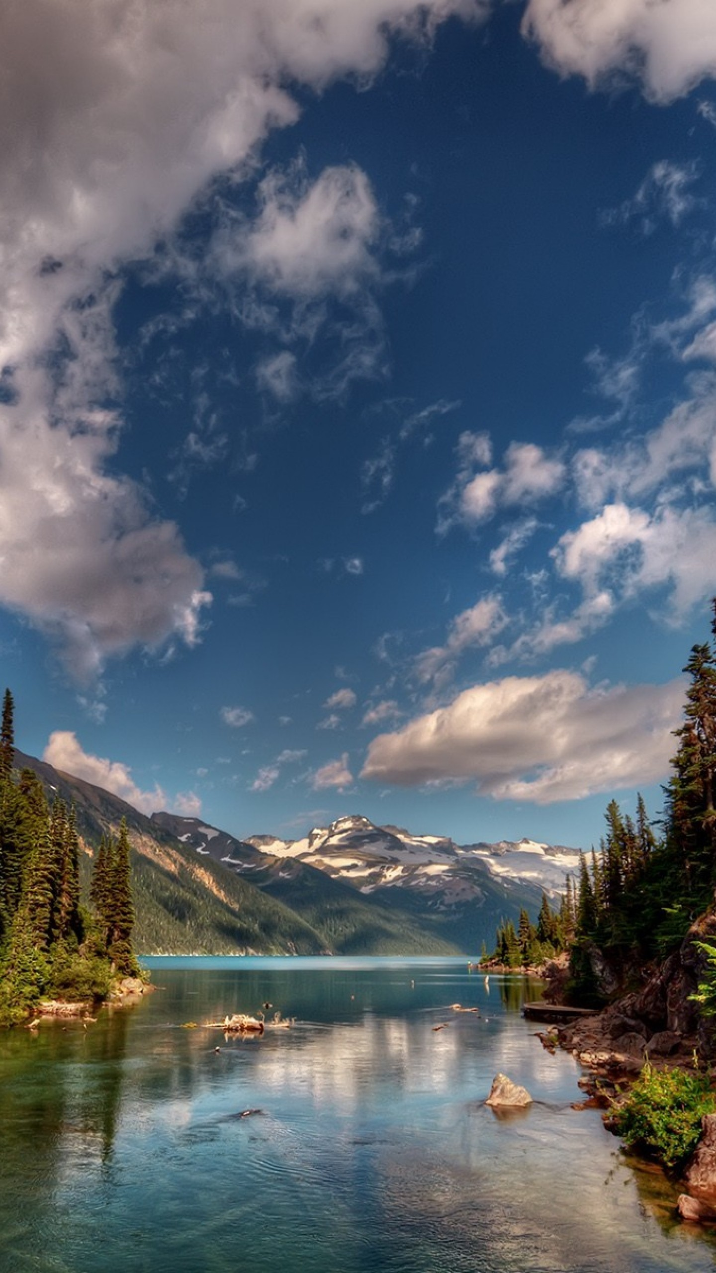 Wallpaper mountains, nature, sky, river, beautiful scenery