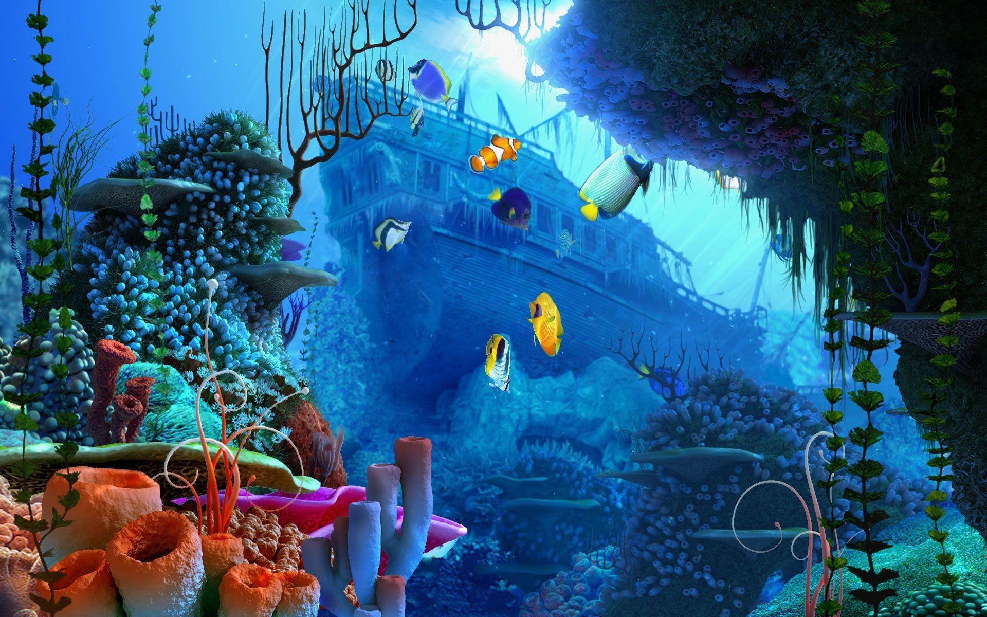 Under Ocean Wallpaper Desktop As Wallpaper HD