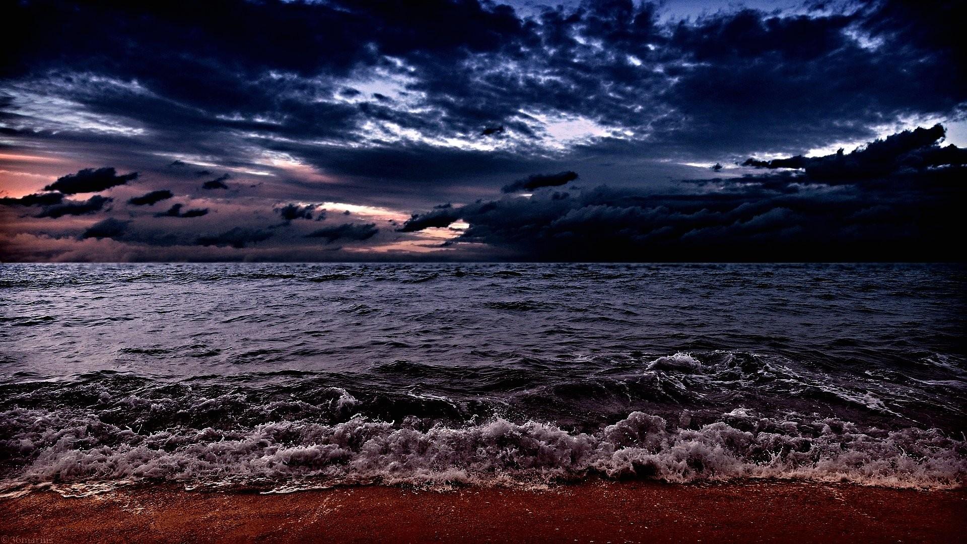 Wallpaper dark ocean 1920 x 1080 full hd