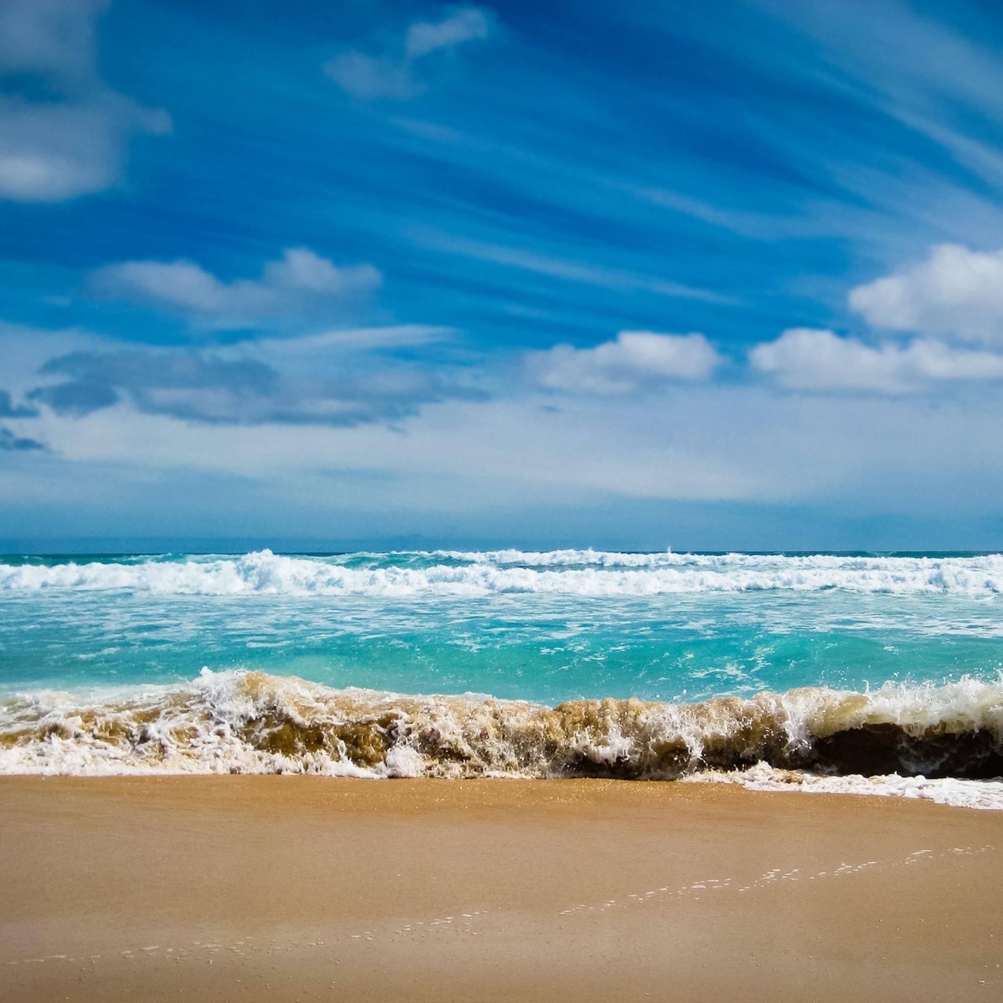 Preview wallpaper ocean, sea, gulf, waves, blue water, coast, beach