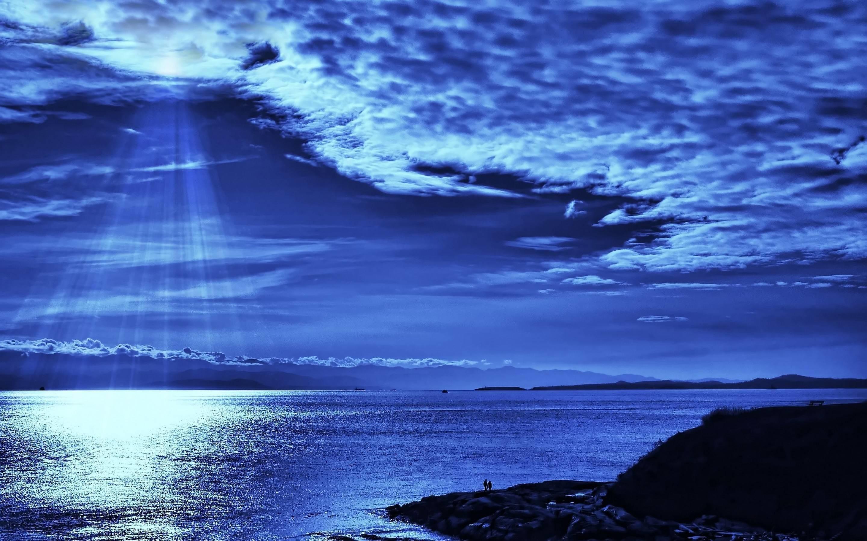 Night Ocean Wallpaper Hd Background 1 HD Wallpapers