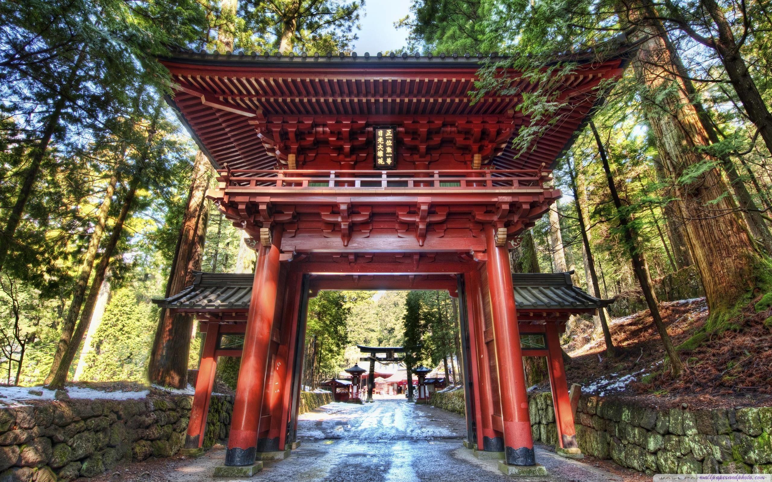 Temple Gate In Japan HD 16:9 16:10 desktop wallpaper: High Definition
