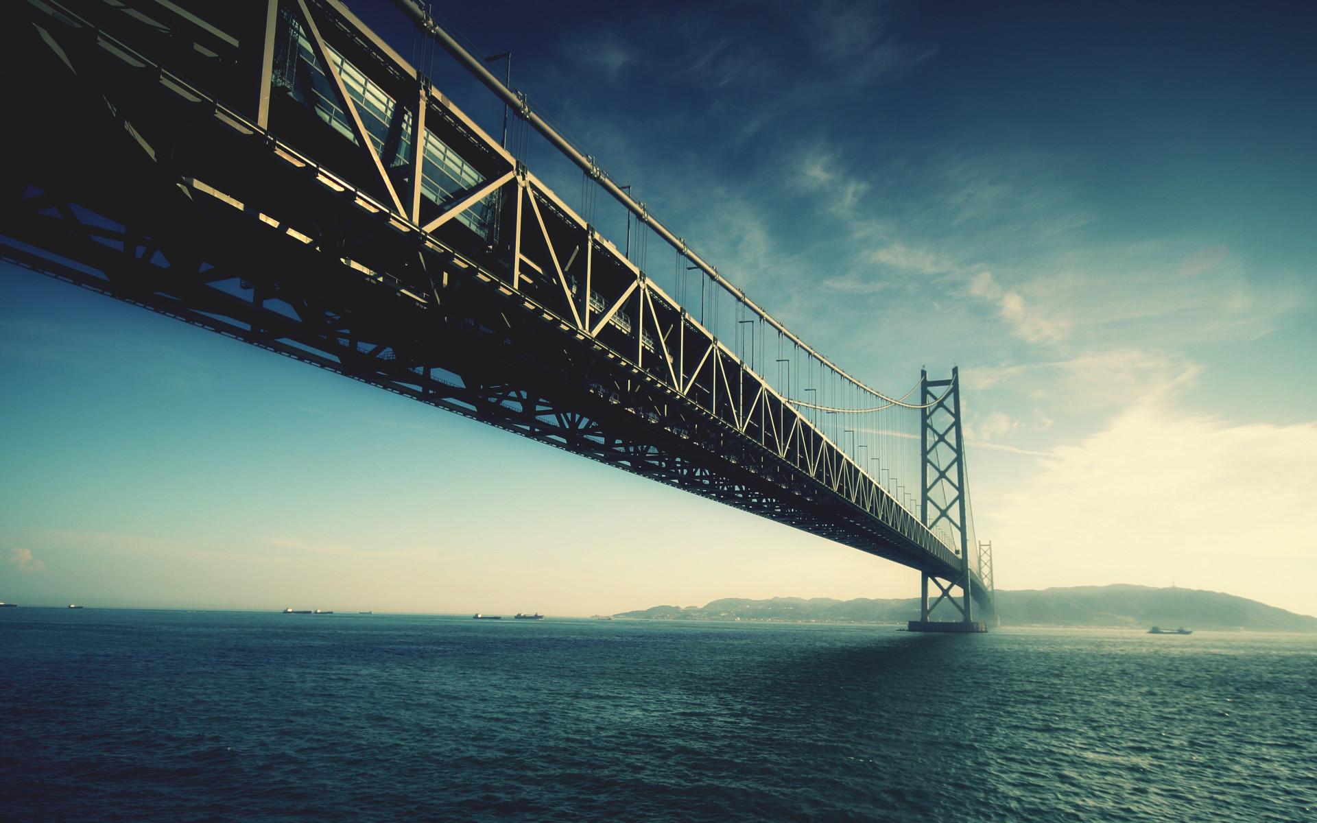 Akashi Kaikyō Bridge Japan Desktop Wallpaper Uploaded by DesktopWalls