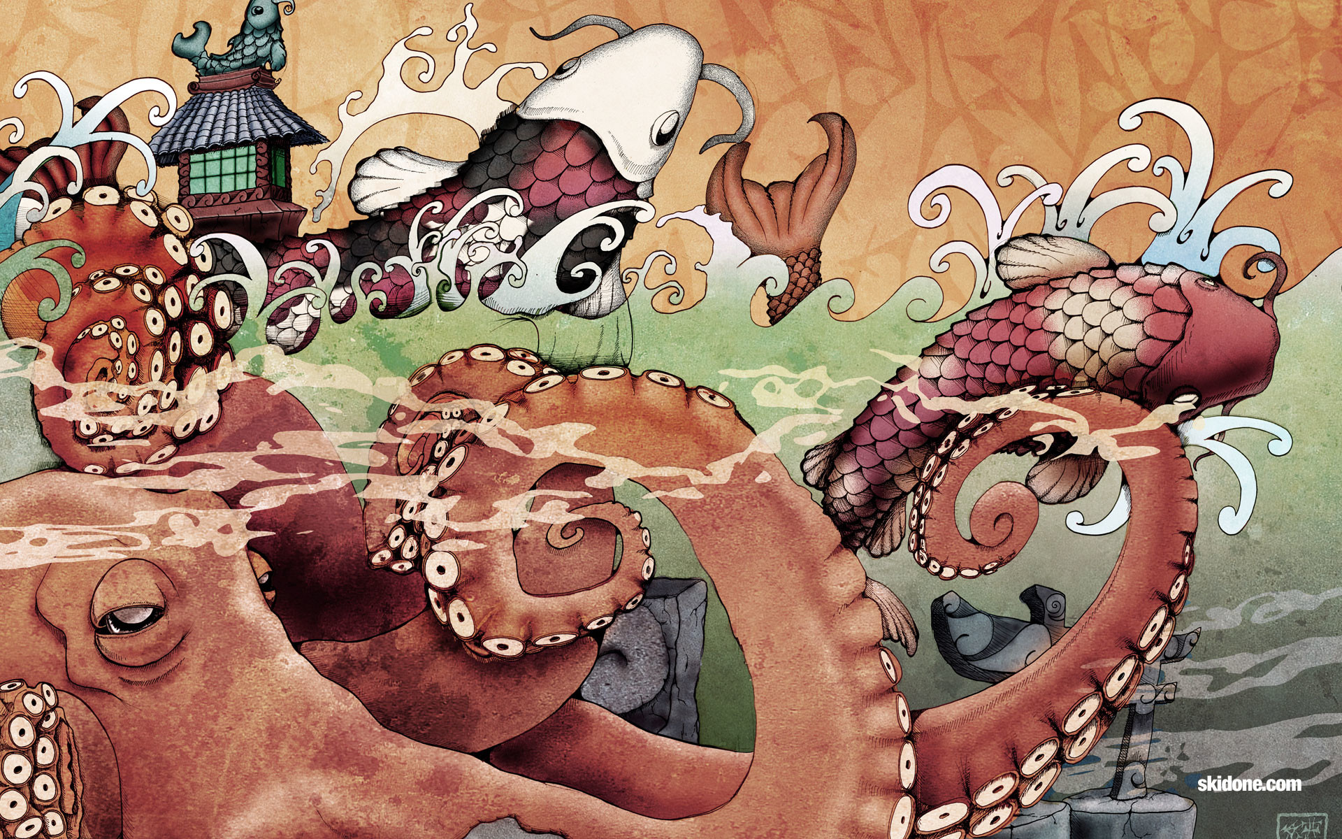 Japanese Art Desktop Wallpaper