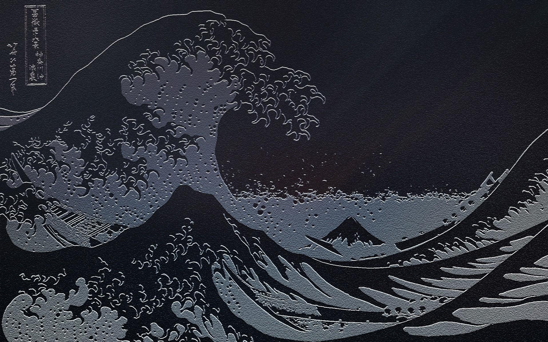 waves Japanese artwork The Great Wave off Kanagawa sea wallpaper .