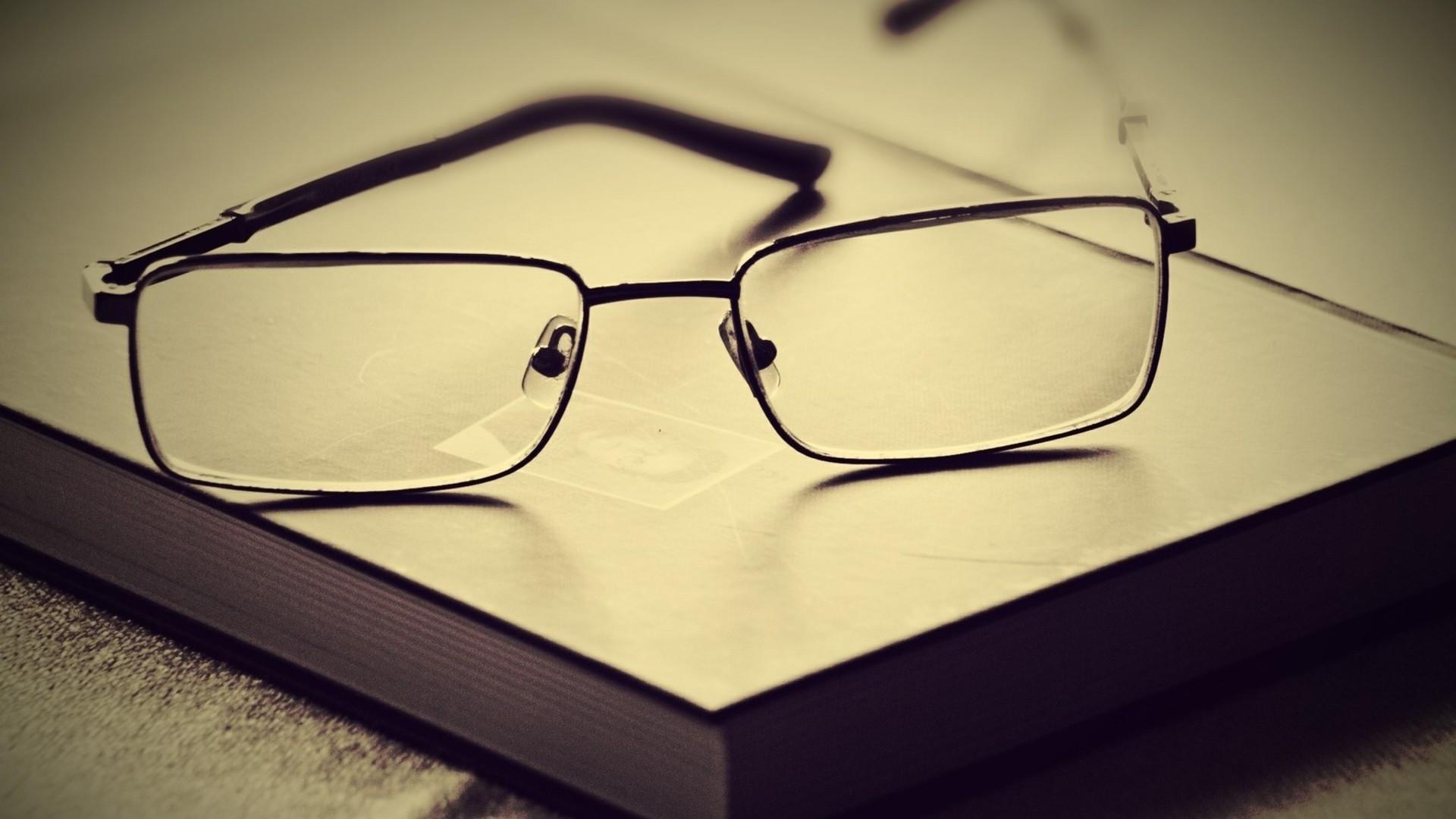 Preview wallpaper book, glasses, lenses, frames 1920×1080