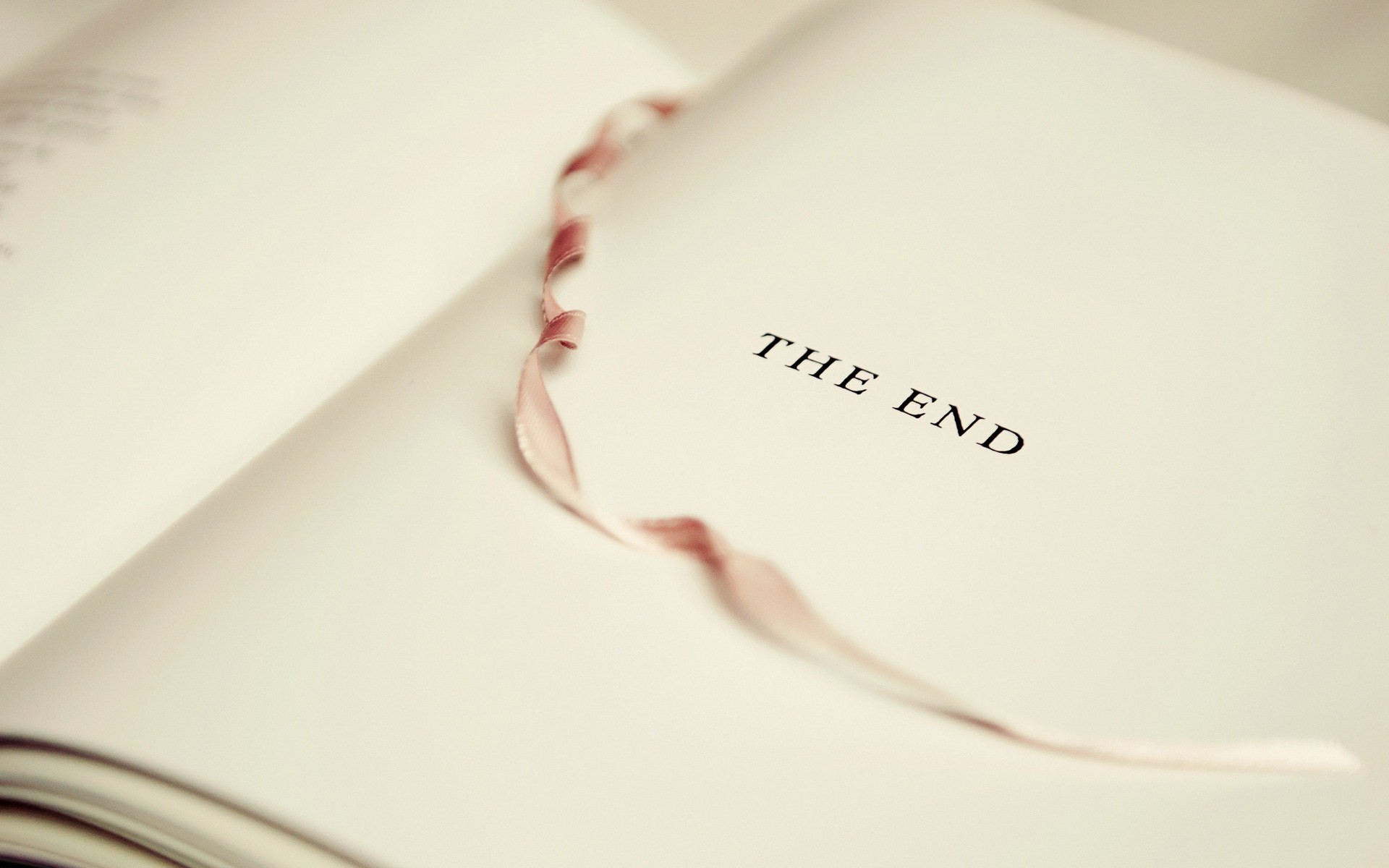… the end book page silk bookmark hd wallpaper desktop background hd  1920x1080the end book page silk