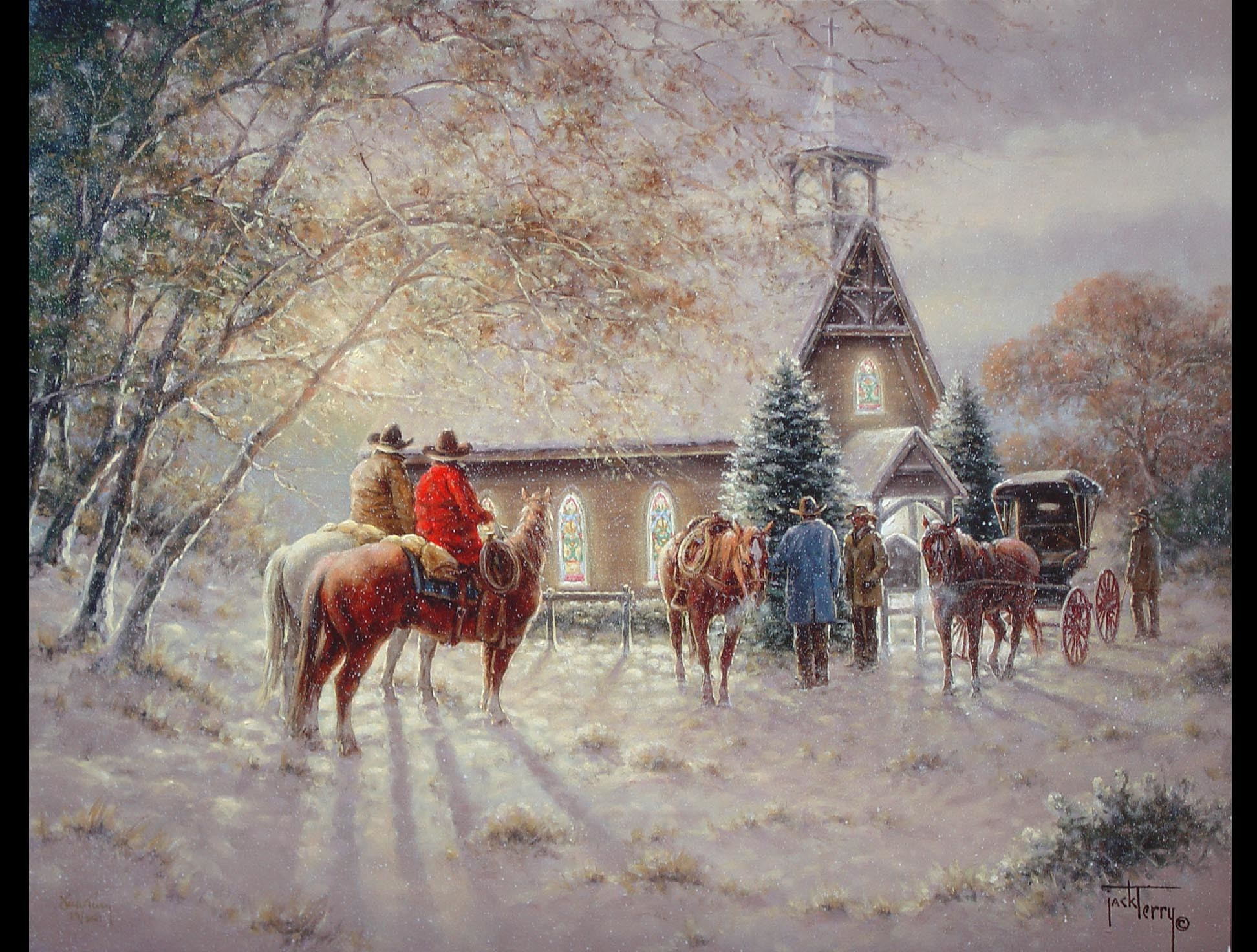 Victorian Christmas Scenes Wallpaper | Jack Terry – First Ones There