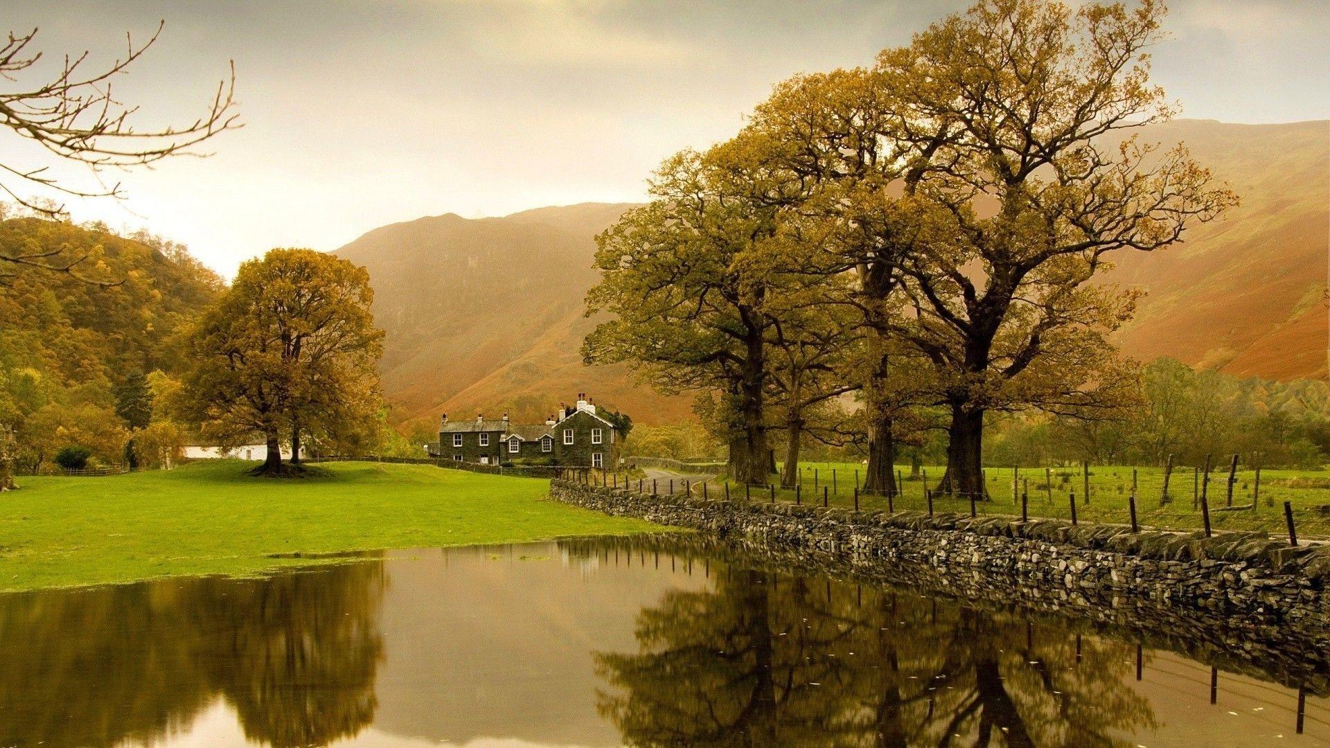 English countryside wallpaper #