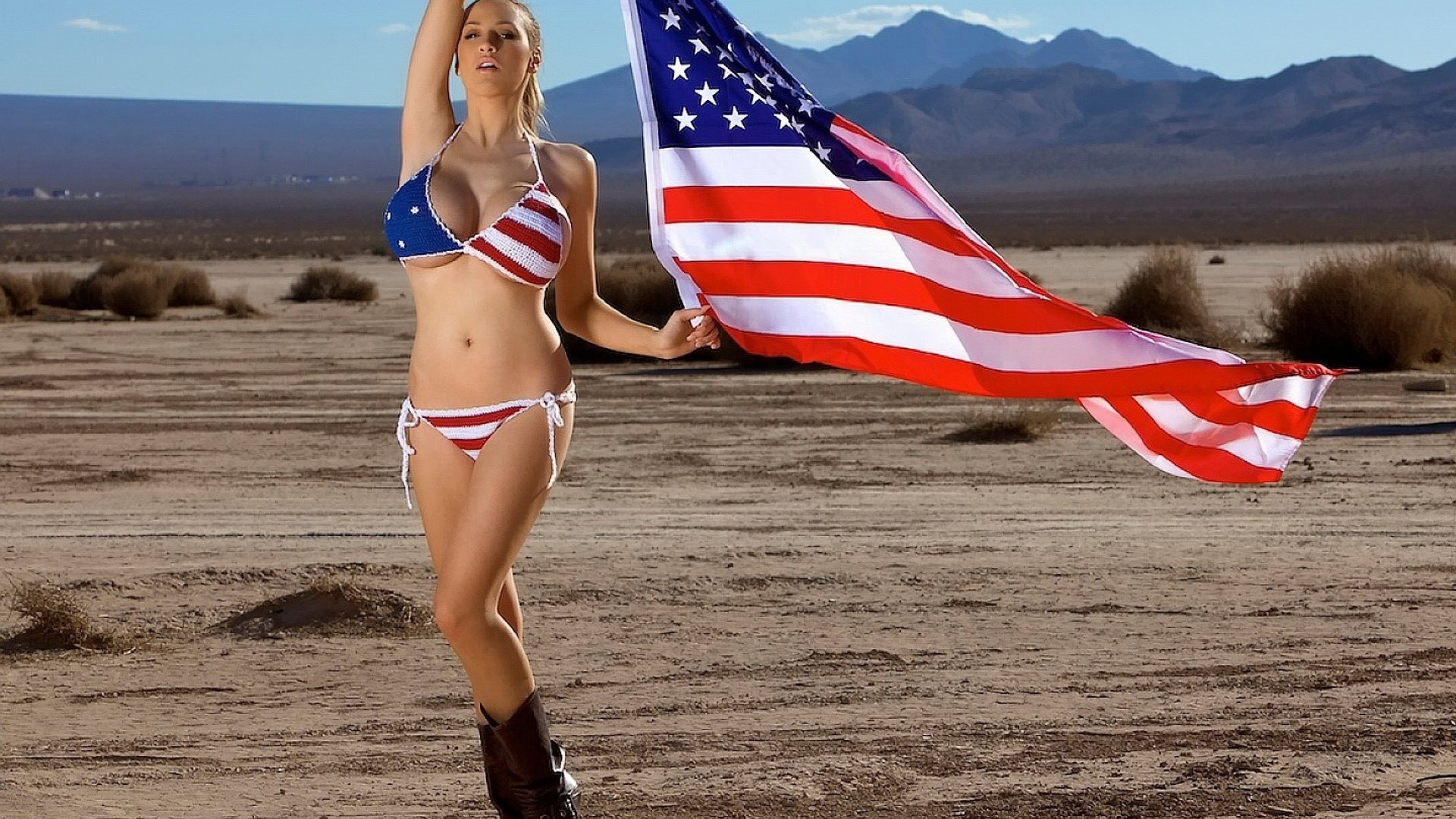 Jordan Carver, American Flag, Bikini, Jordan Carver American Flag Bikini  …
