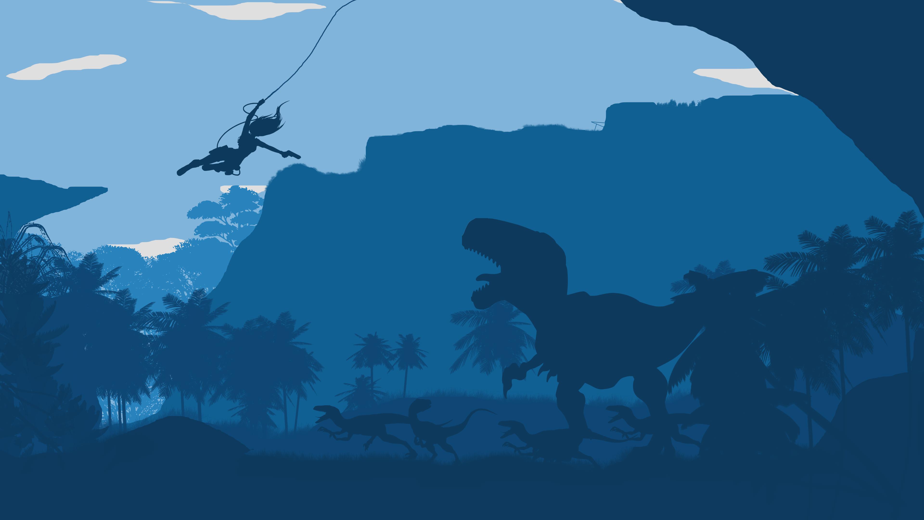 Tomb Raider Dinosaur 4K