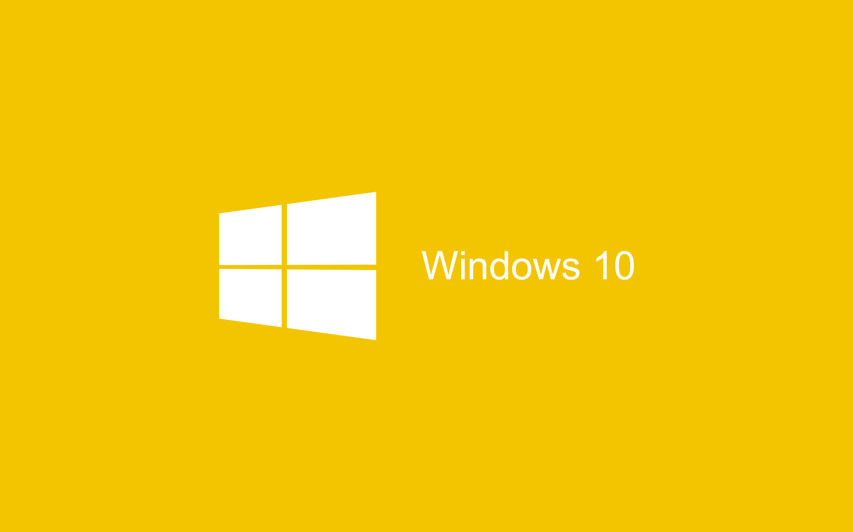 Flat Yellow Windows 10 Wallpaper HD 2880×1800