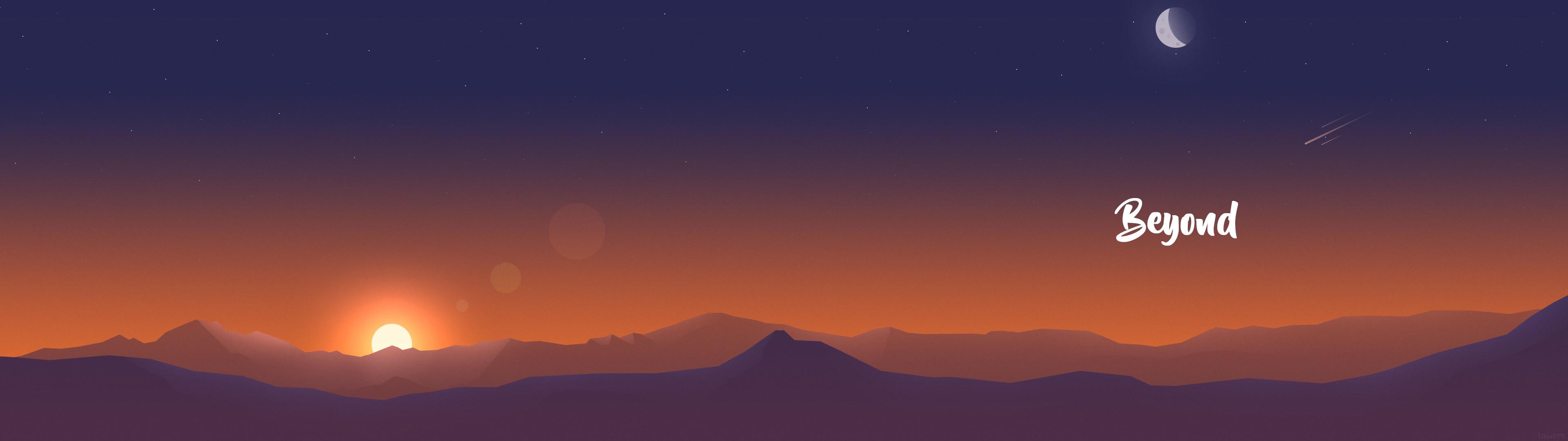 Flat-Mountains-Dual-Monitor-1920×1080-wallpaper-wpc9004979