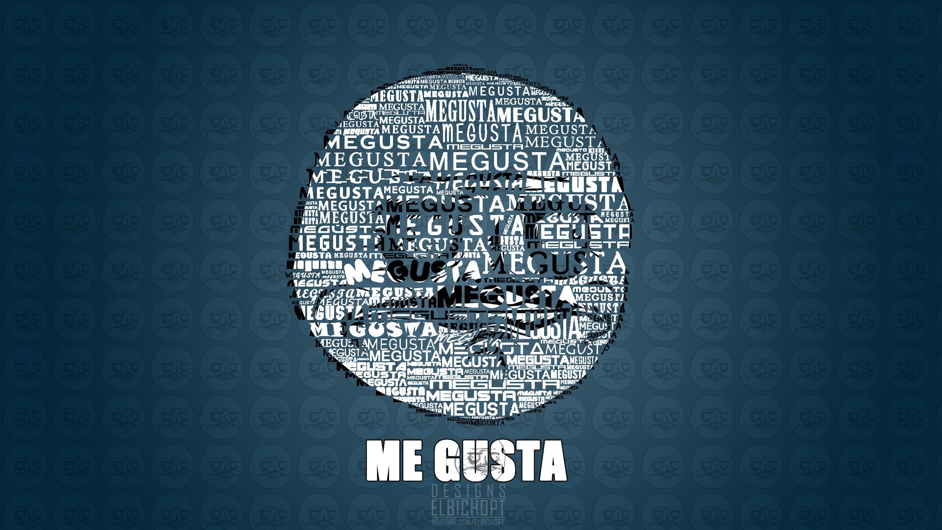 Blue Background Funny Me Gusta Meme …