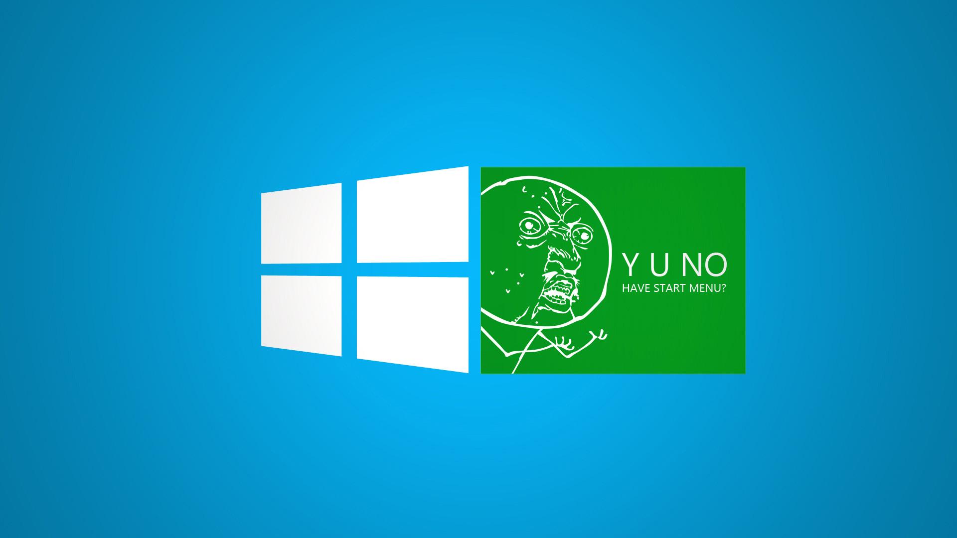 Funny Green Windows 8 Meme Desktop Wallpaper