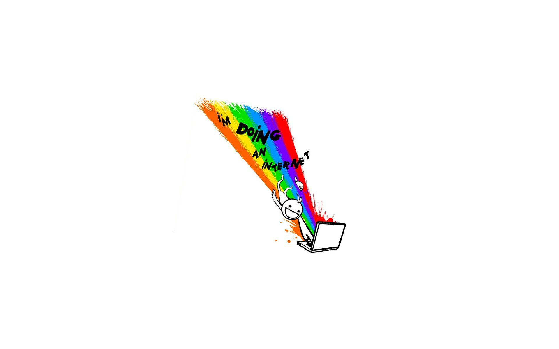 Funny Internet Meme Minimalistic Rainbows Text