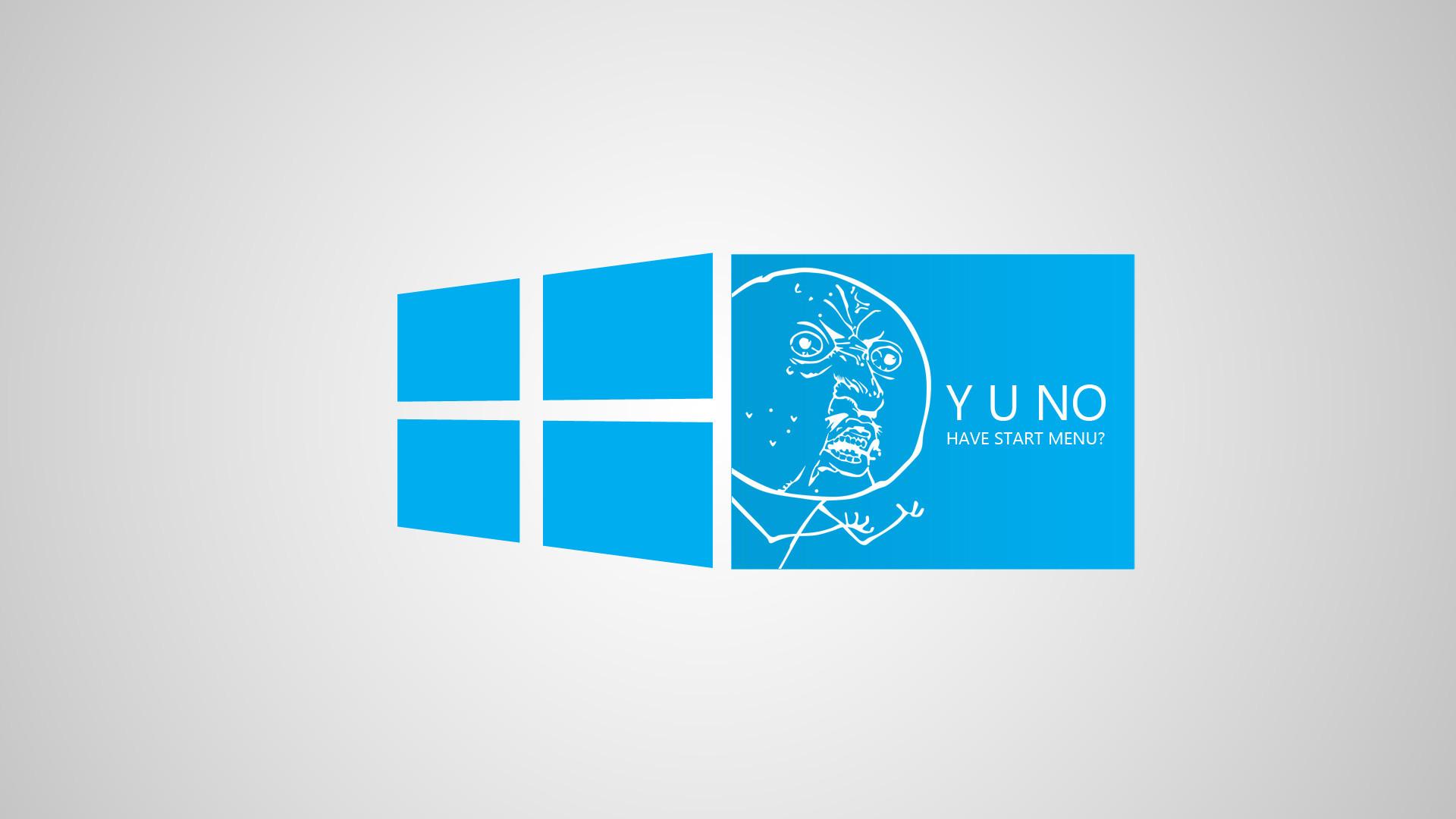 Funny Blue Windows 8 Meme Desktop Wallpaper