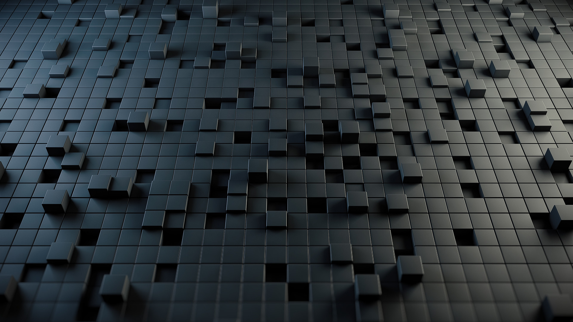 Black Cubes Wallpaper Full HD