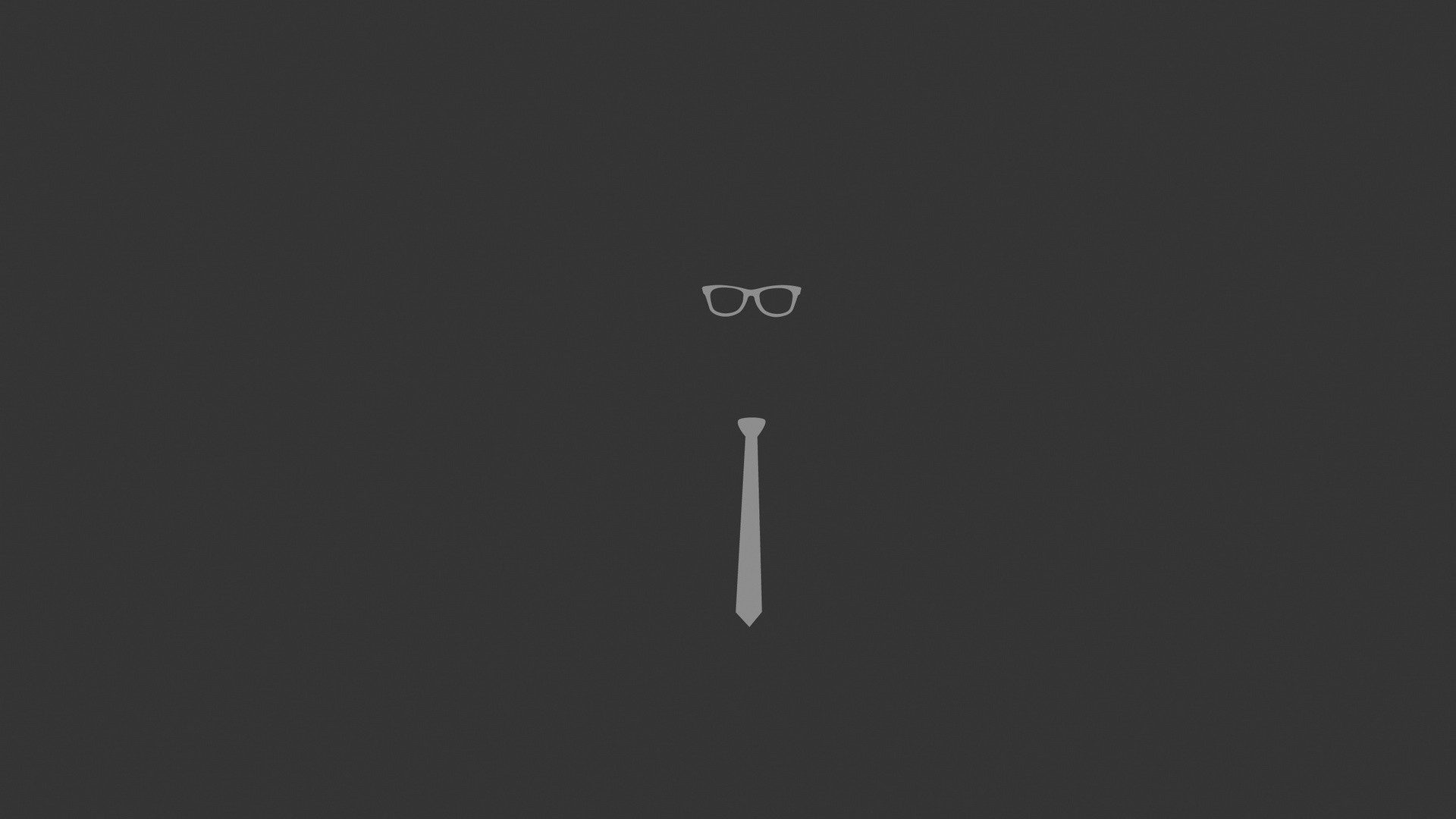 Tie, Glasses, Graphic, Minimalist Wallpaper, Background Full HD 1080p .